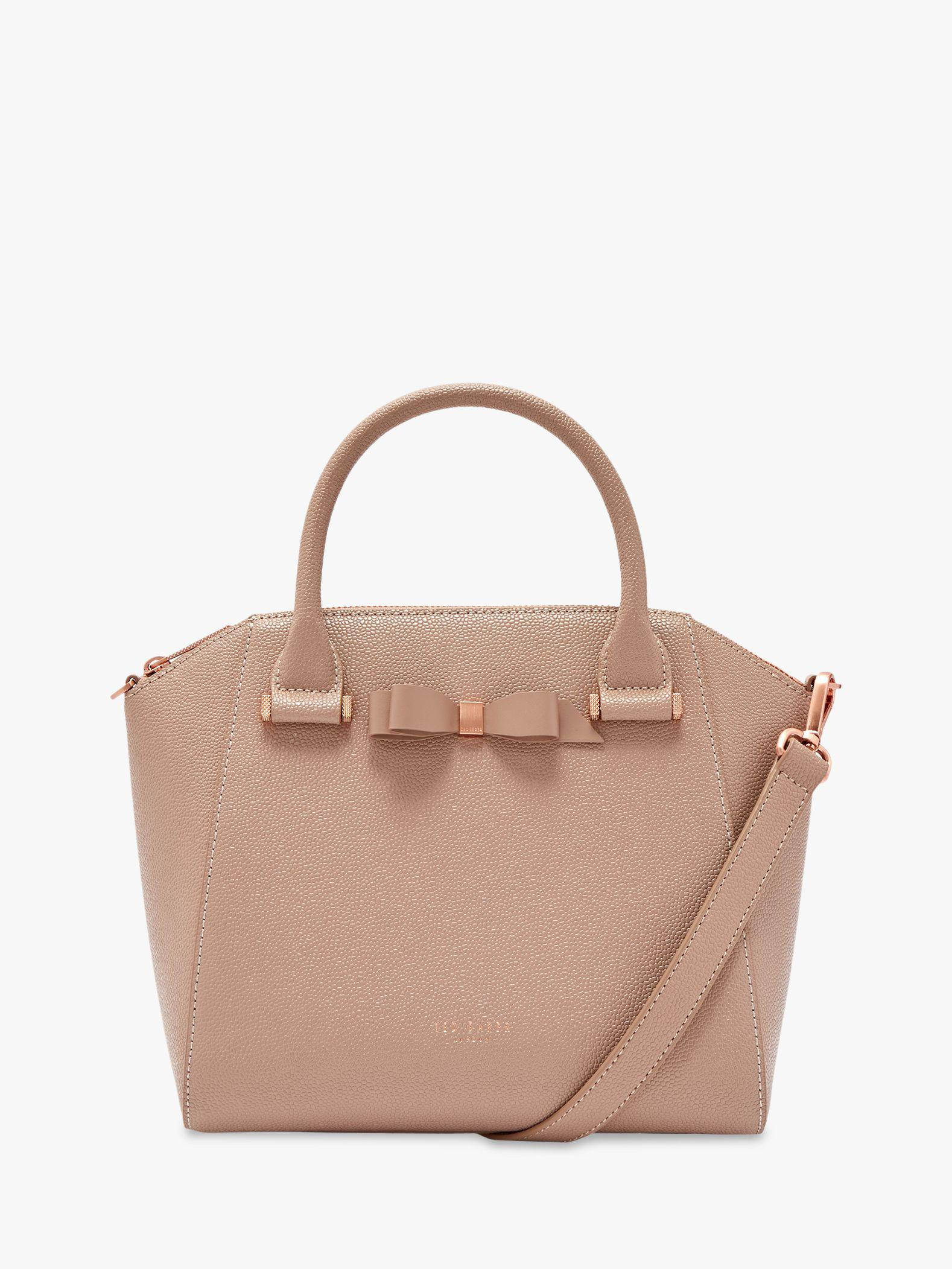 289a8ab0aea Ted Baker Janne Bow Leather Tote Bag in Brown - Lyst