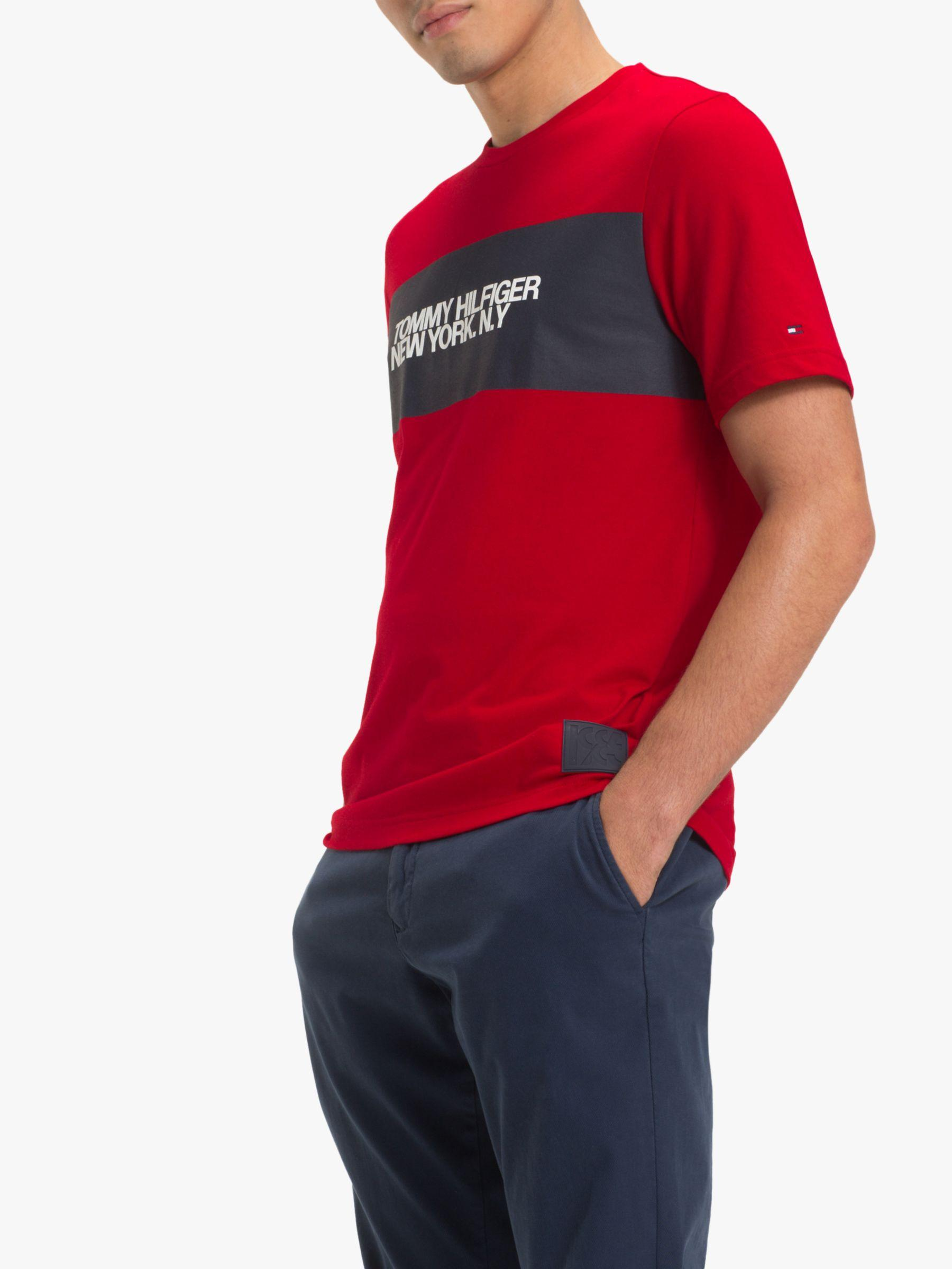 40269c6b Tommy Hilfiger Big Scale Logo T-shirt in Red for Men - Lyst