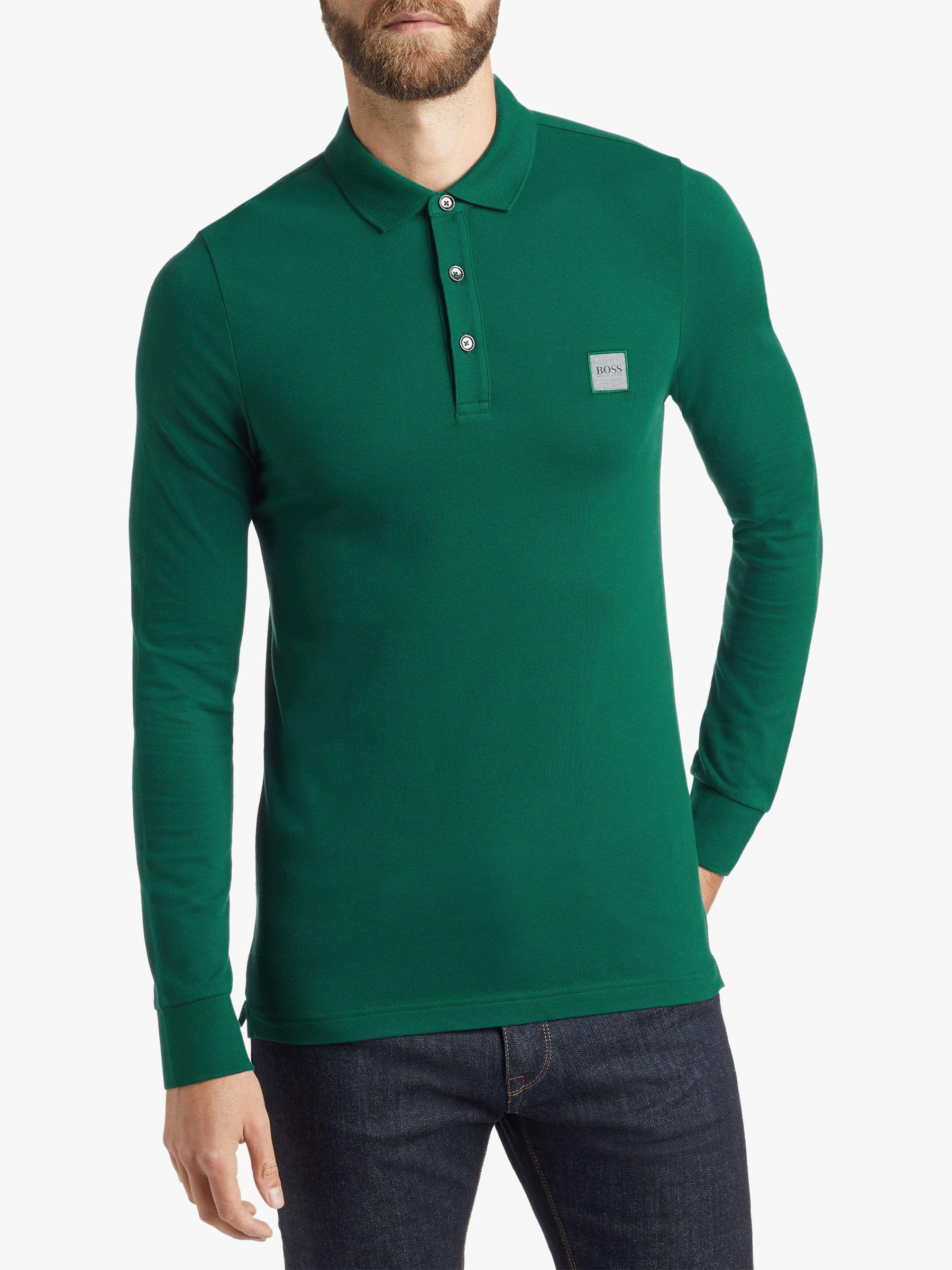 ccddee6f BOSS Boss Passerby Long Sleeve Polo Shirt in Green for Men - Lyst