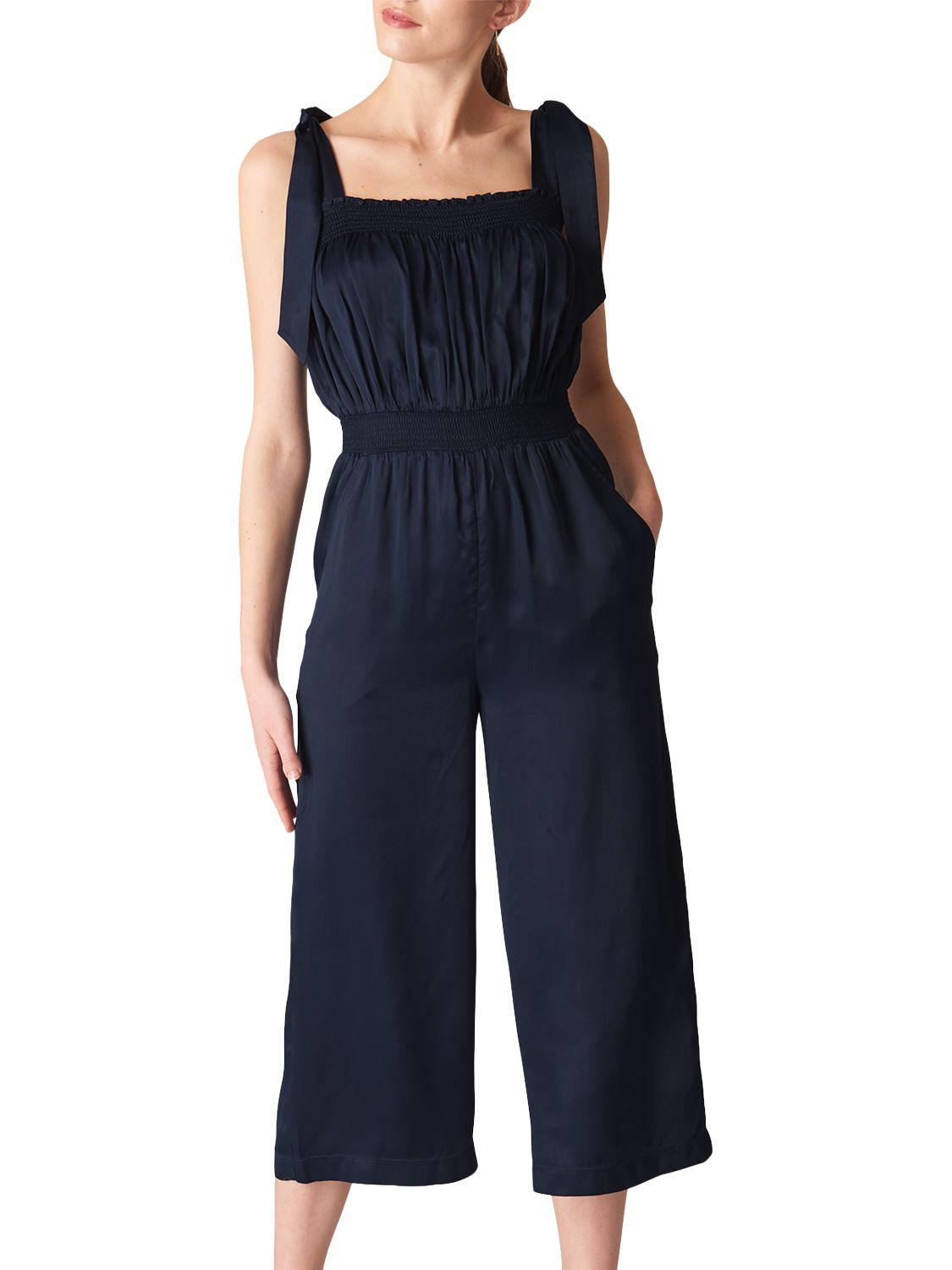 b54d05000c6 Whistles Ally Tie Shoulder Jumpsuit in Blue - Lyst