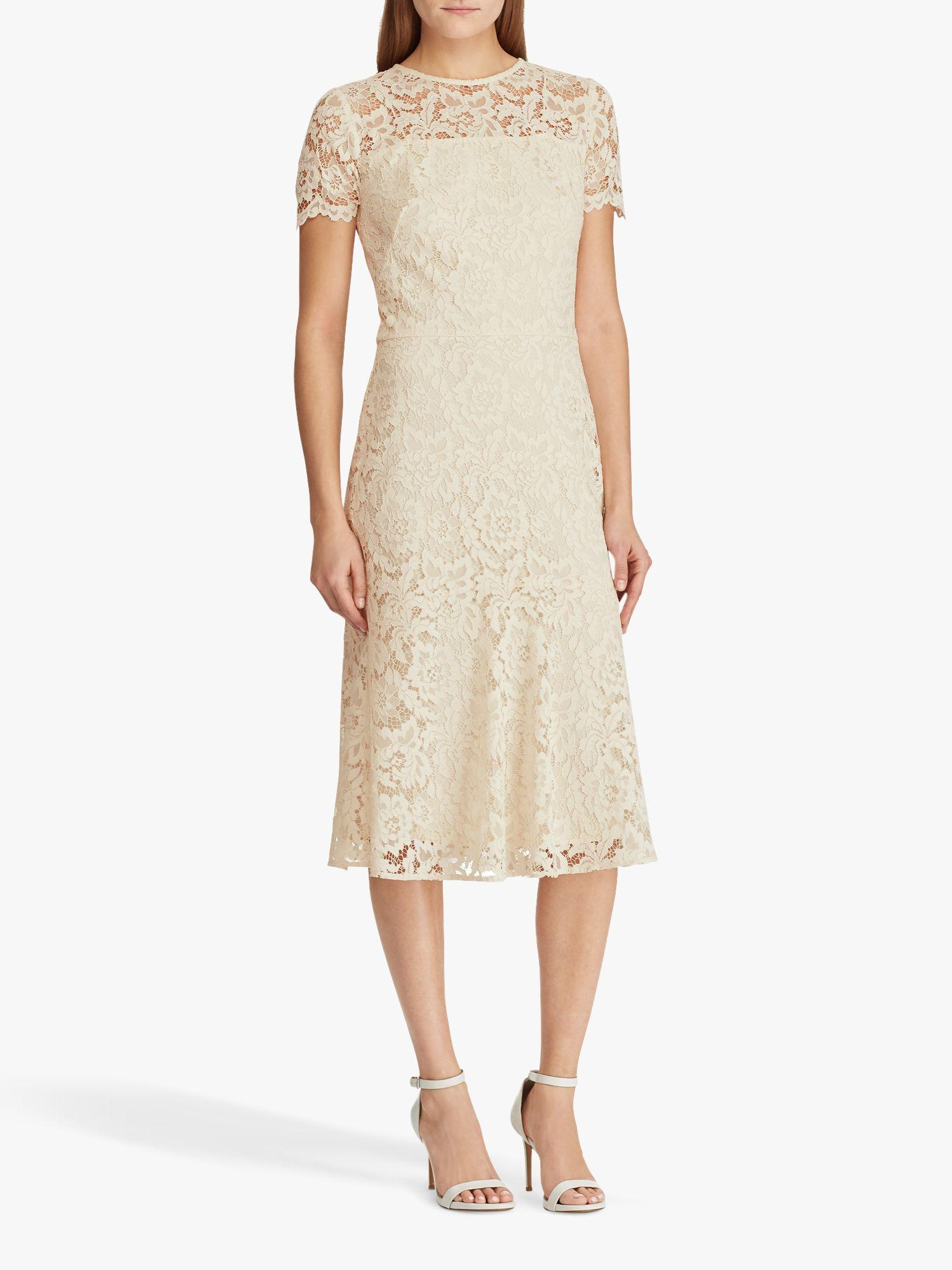 48309f00d1bba Ralph Lauren Lauren Loki Lace Cocktail Dress in Natural - Lyst