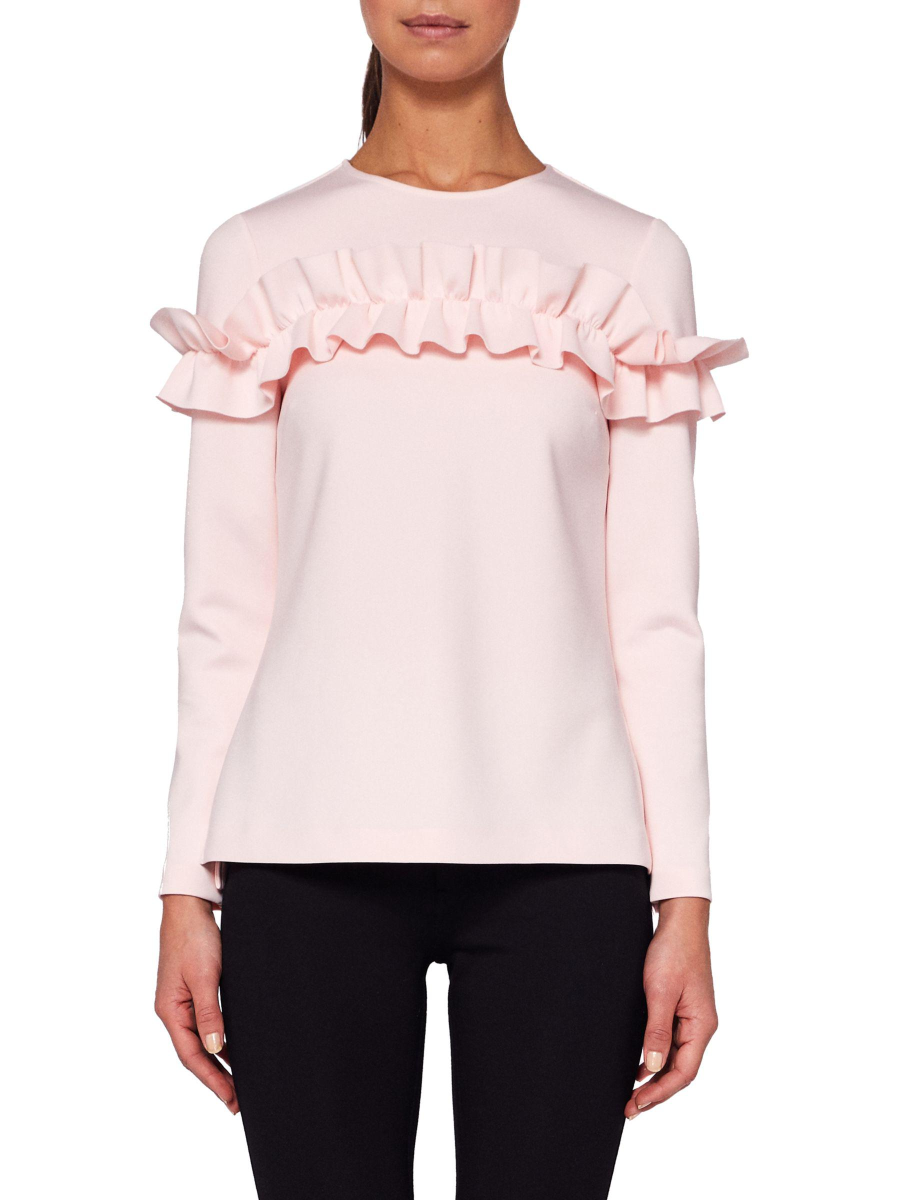 69a24ee225b91 Ted Baker Aiya Ruffle Top in Pink - Lyst