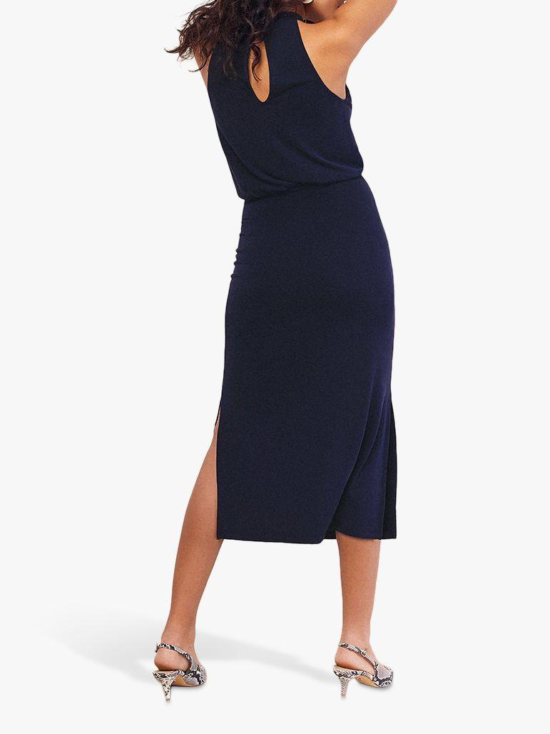 94559d501cf2 Oasis Halter Cupro Midi Dress in Blue - Lyst
