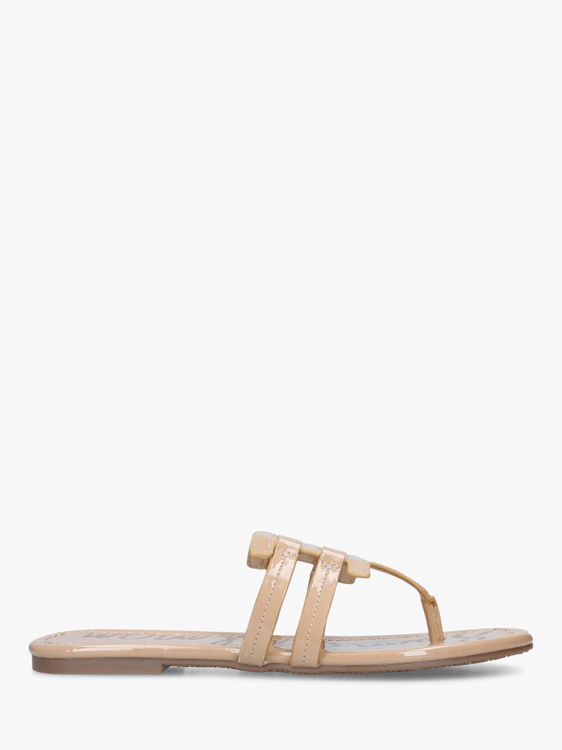 ba688a833 Sam Edelman Flat Slip-on Sandals in Natural - Lyst