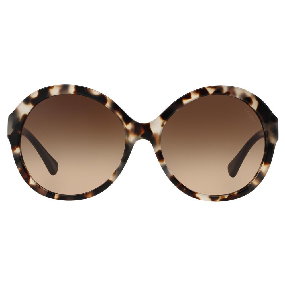 282ea84e0e COACH Hc8149 Round Sunglasses - Lyst