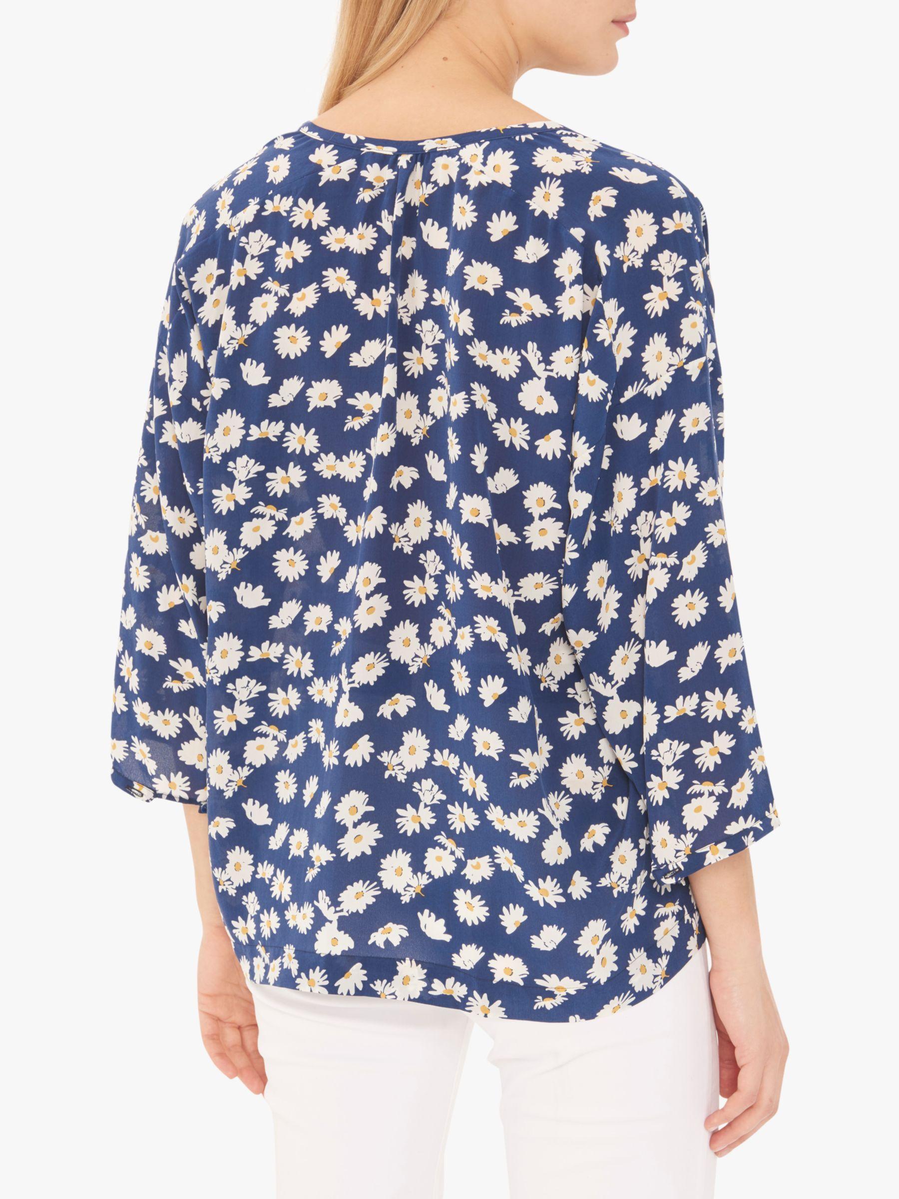 af517849b788 Gerard Darel Elodie Floral Silk Blouse in Blue - Lyst