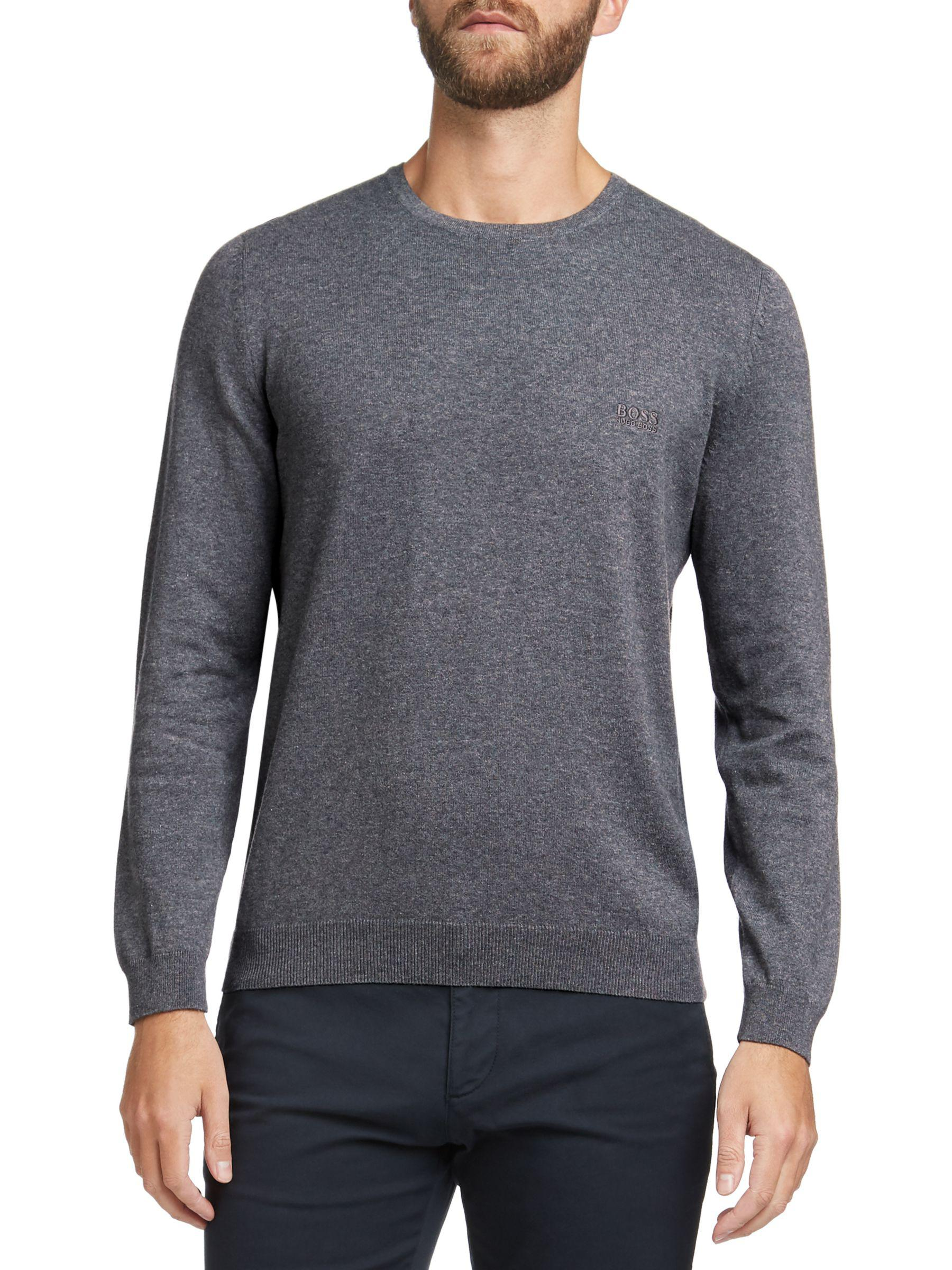 1833a1d0b Boss Boss Pascas Long Sleeve Jumper in Gray for Men - Lyst