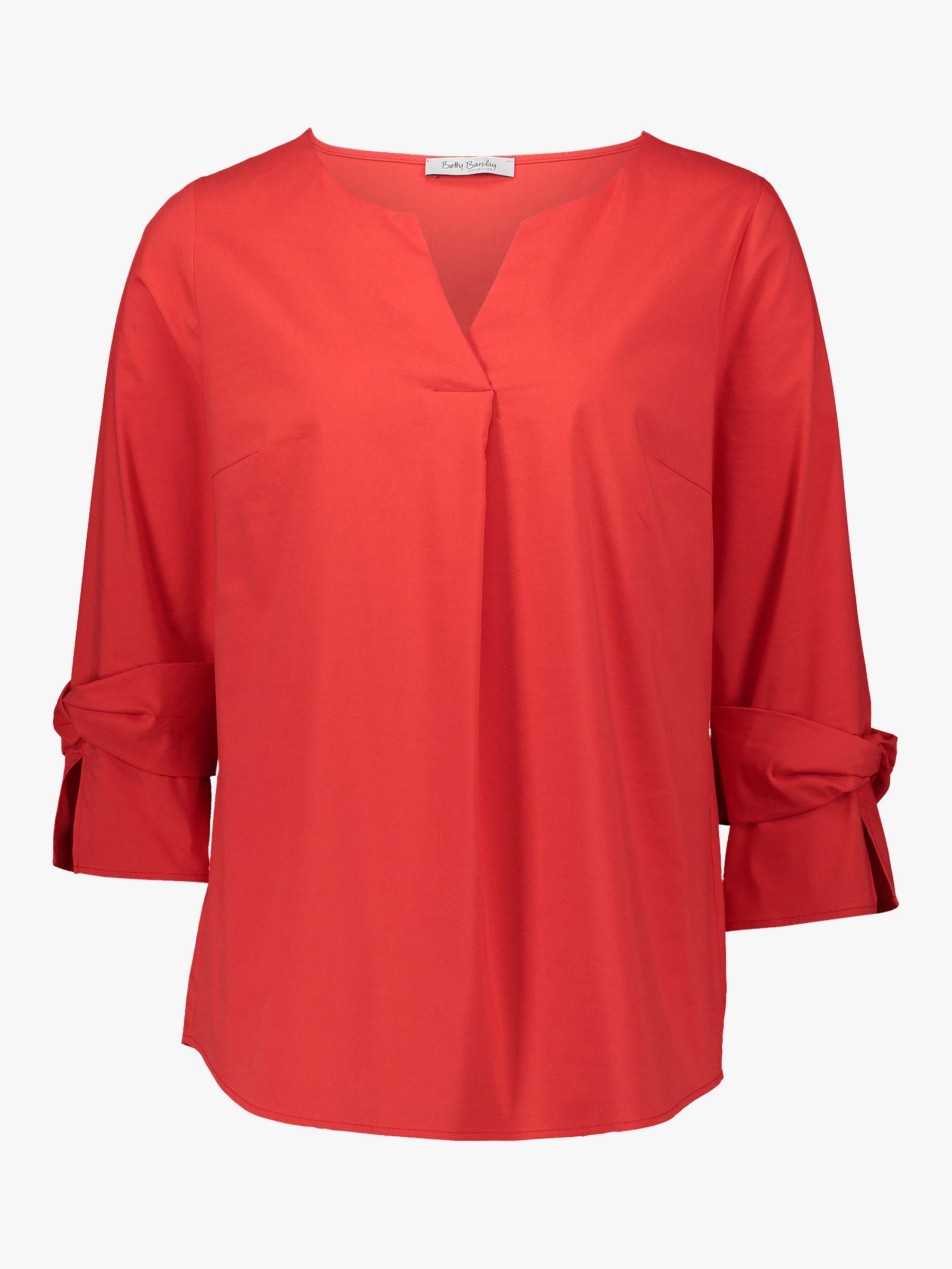 8f182224cfb55 Betty Barclay - Red Knot Statement Sleeve V-neck Blouse - Lyst. View  fullscreen