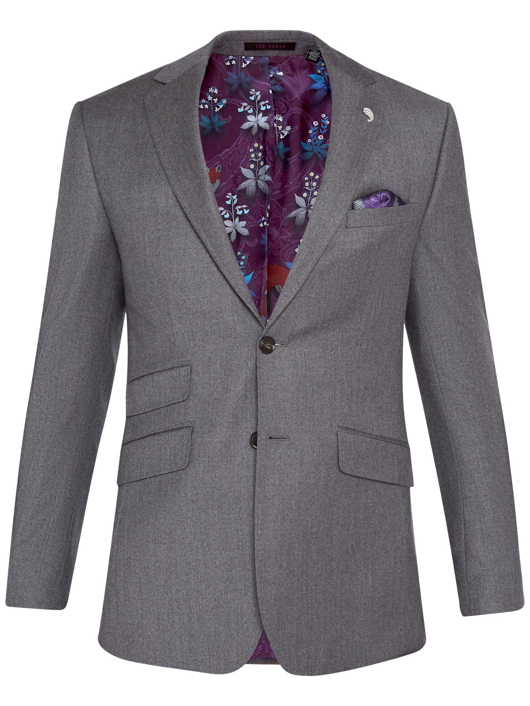 dc7bd43e1f515 Ted Baker Caspiaj Sterling Wool Flannel Tailored Suit Jacket in Gray ...