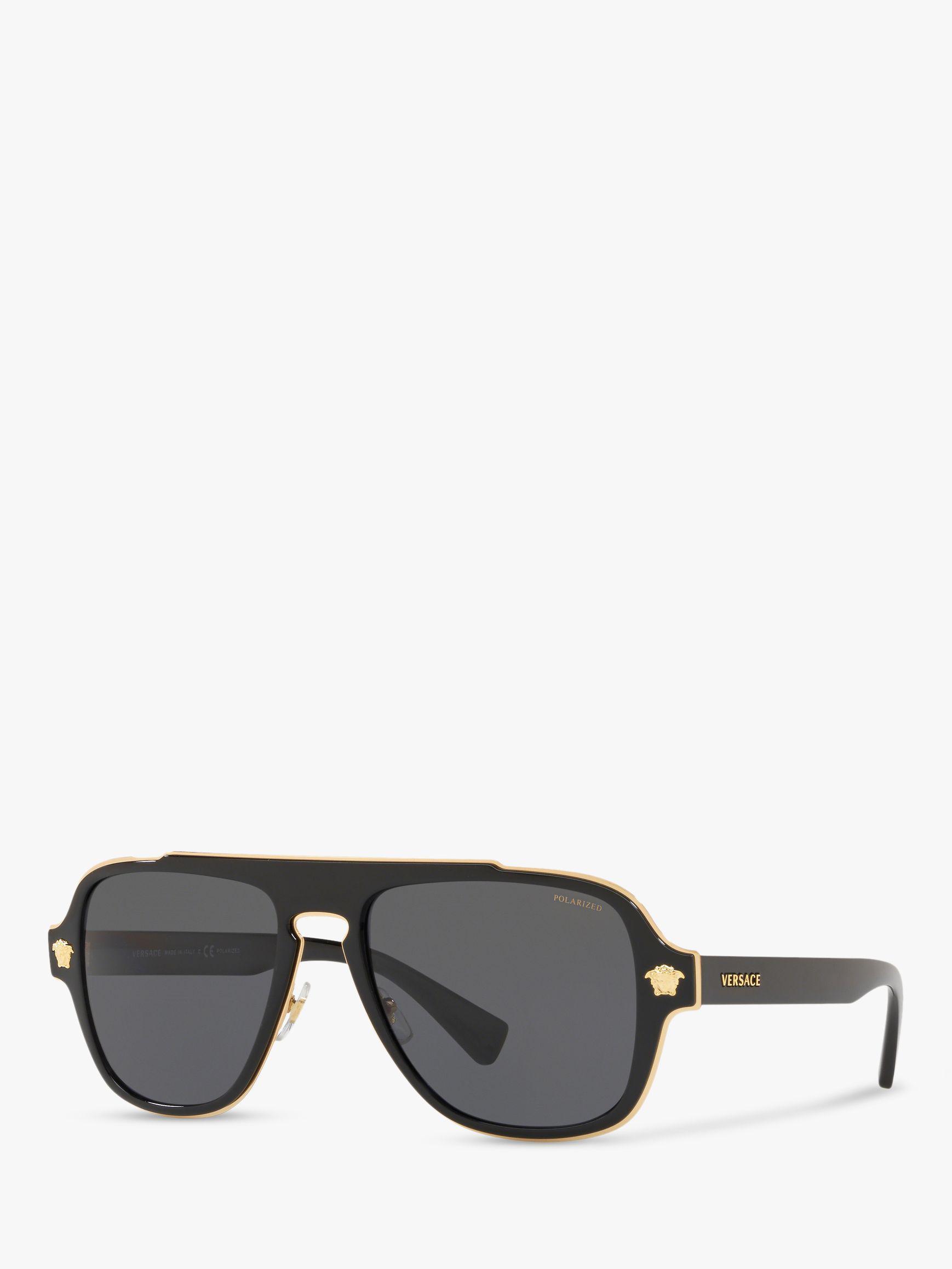a04f34ae6d Versace - Black Ve2199 Men s Polarised Geometric Sunglasses for Men - Lyst.  View fullscreen