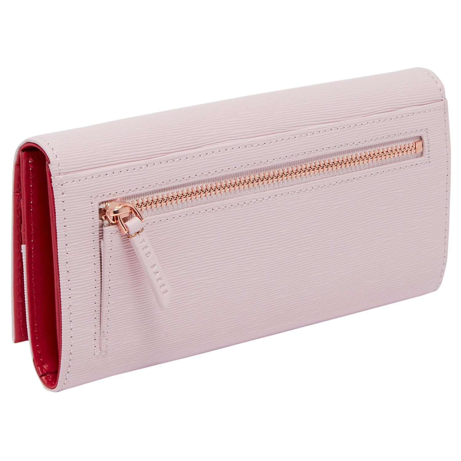 8f0ca90574b4be Ted Baker Pansie Bow Leather Matinee Purse in Pink - Lyst