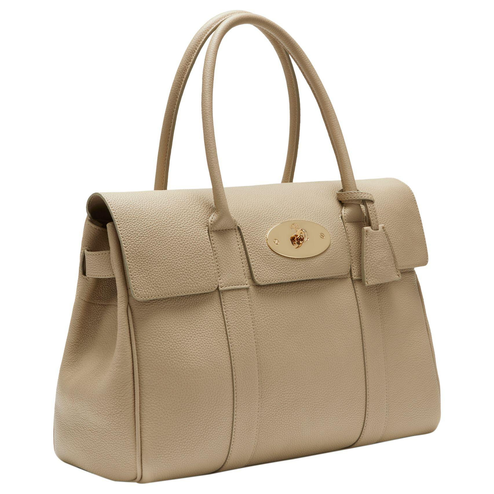 John Lewis Mulberry Bayswater Small Classic Grain Leather Grab Bag ... f036acd12c130