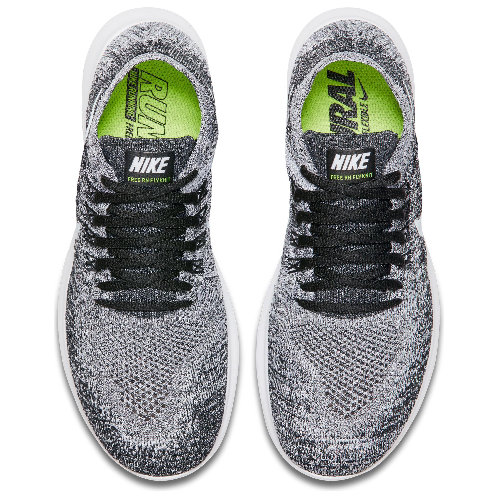 c6e0f126d6cf3 Nike Free Rn Flyknit 2017 Women s Running Shoes in Black - Lyst