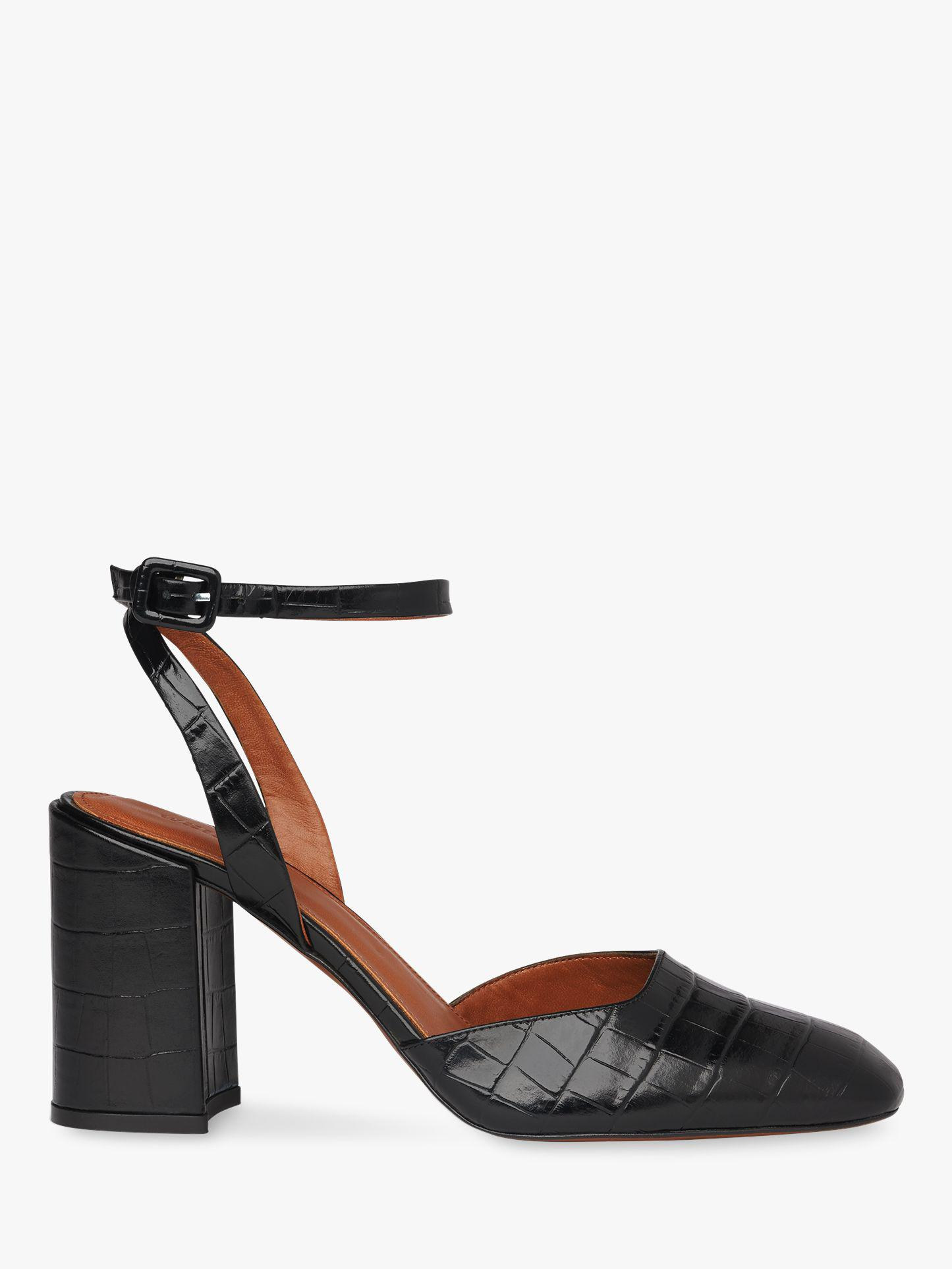 dc45e47c3dde Whistles. Women s Black Crescent High Block Heel Sandals. £159 £95 From John  Lewis and Partners