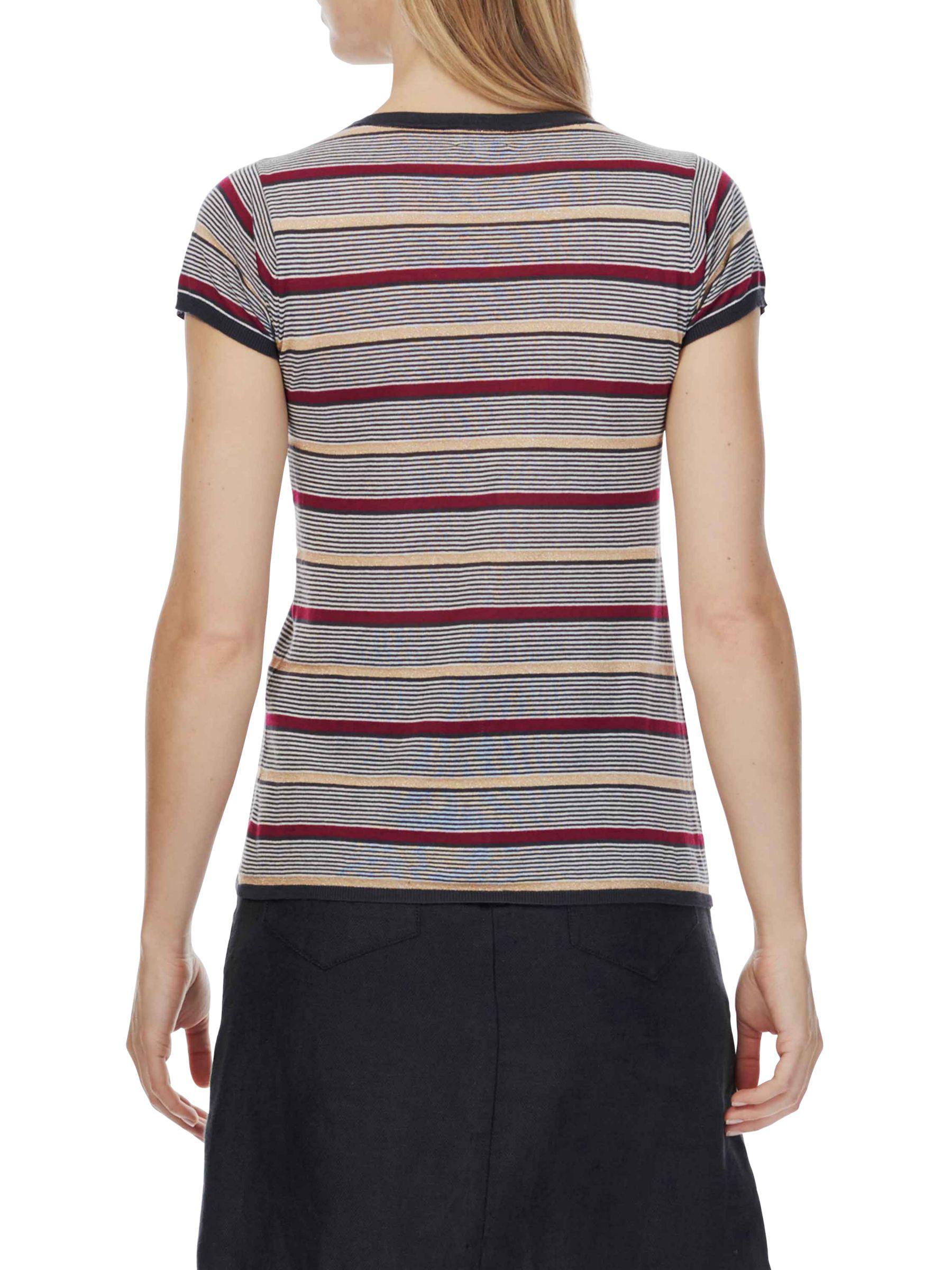 e22a764f4fe8d Brora Metallic Striped T-shirt - Lyst