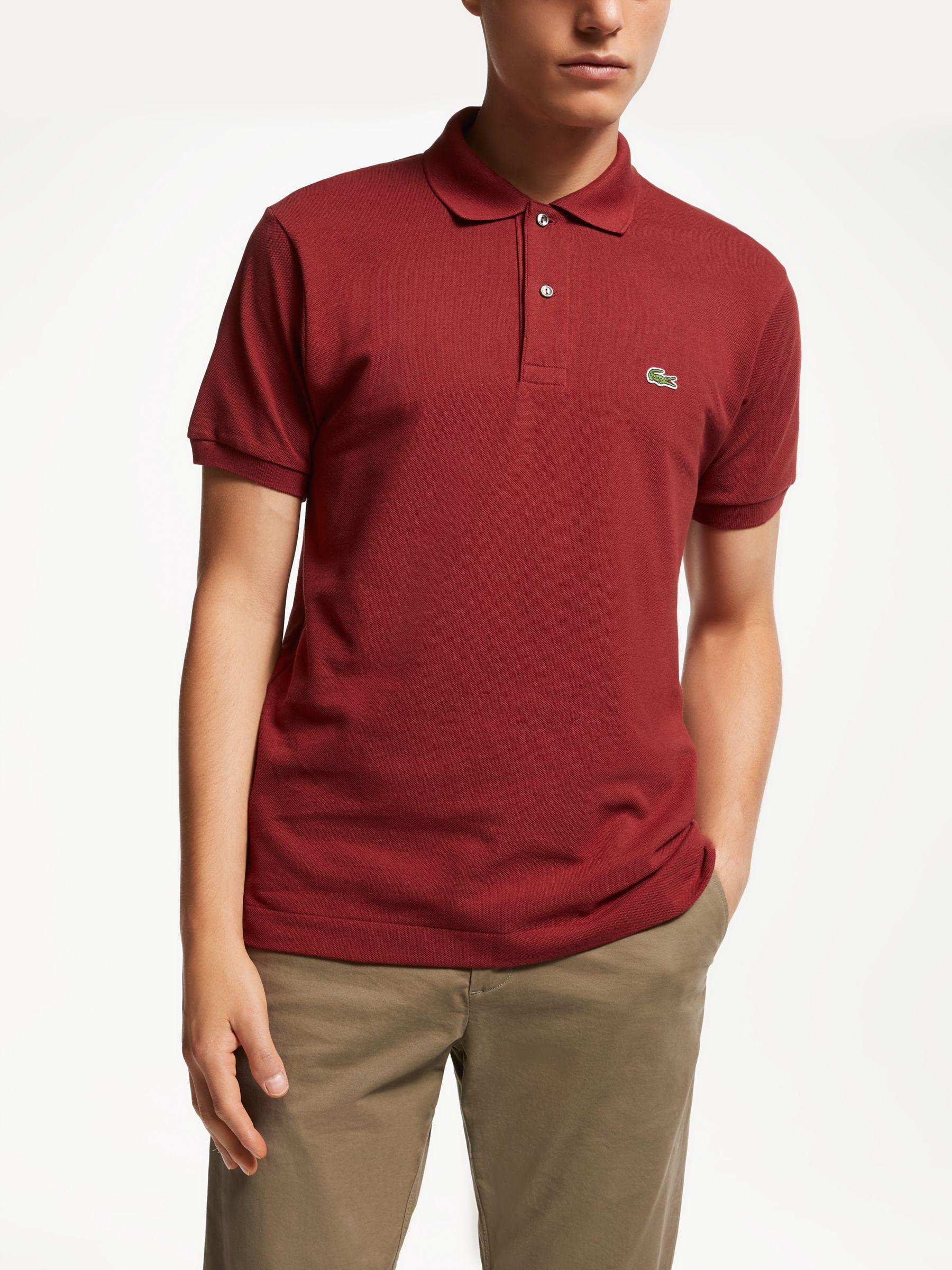 c0a85fb3 Lacoste L.12.12 Classic Regular Fit Short Sleeve Polo Shirt in Red ...