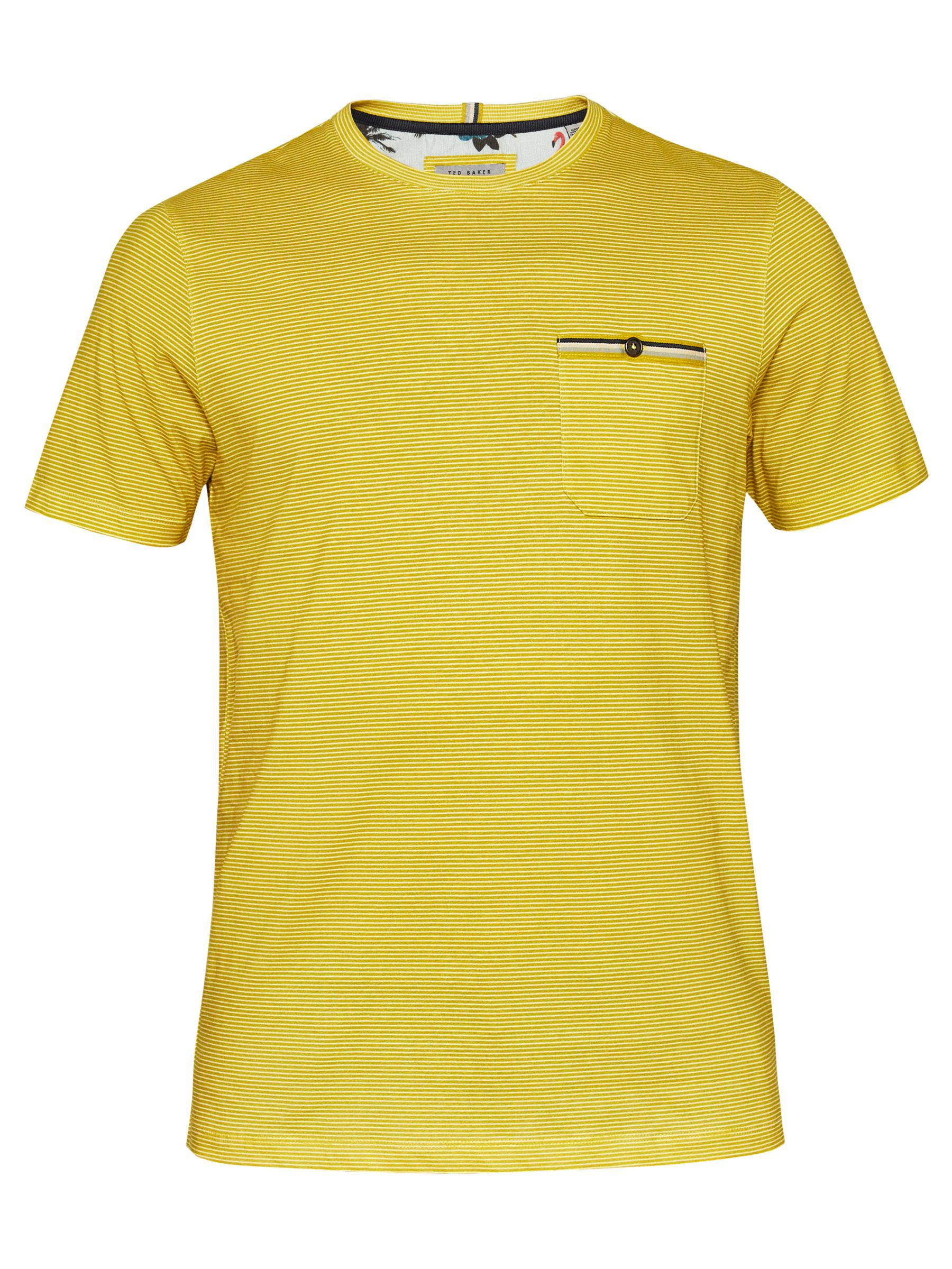 ac97d93a Ted Baker Pikmix Short Sleeve Stripe T-shirt in Yellow for Men - Lyst