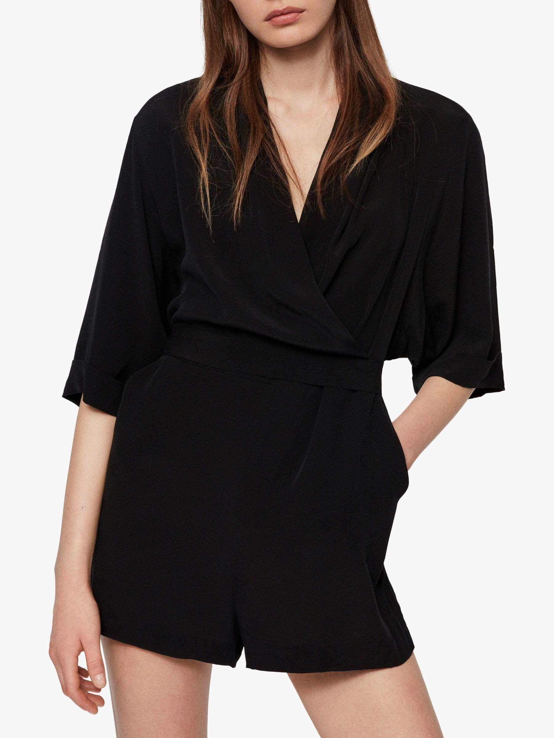0047be3838 AllSaints Laurel Playsuit in Black - Lyst