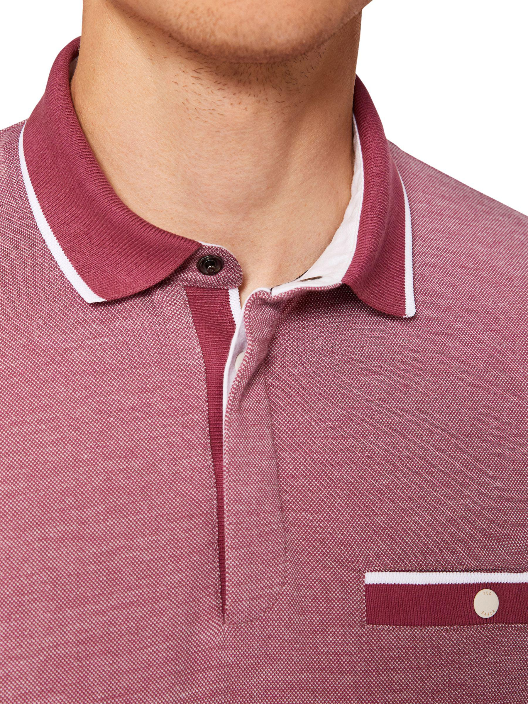 c1b73edf129c Ted Baker Depot Short Sleeve Polo Shirt in Pink for Men - Lyst