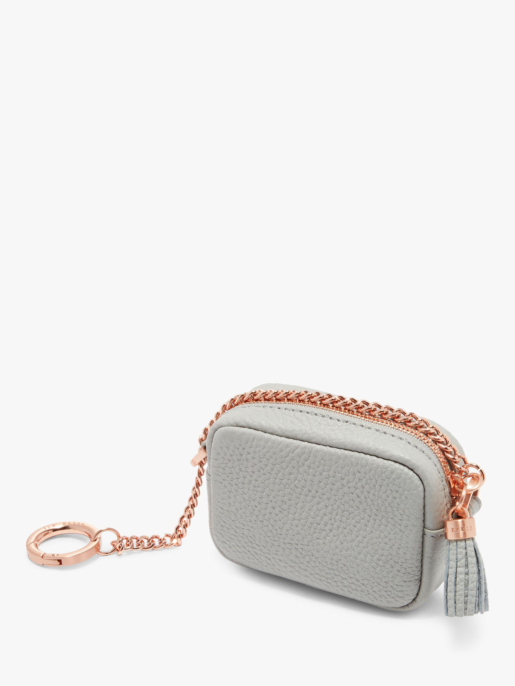 c229873c43 Ted Baker Mmorgan Leather Coin Purse Bag Charm in Gray - Lyst