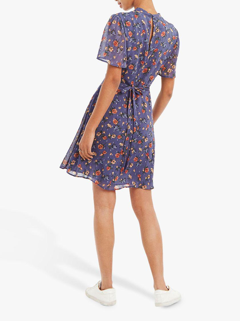 1af2f0a72c23 Oasis Sparkle Floral Skater Dress in Blue - Lyst