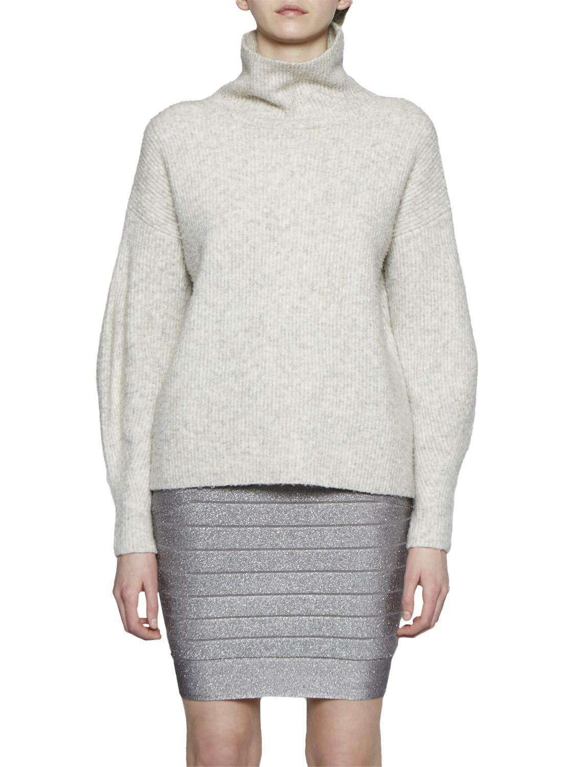 dfcb3566909 French Connection Rosa Knit Pencil Skirt in Metallic - Lyst