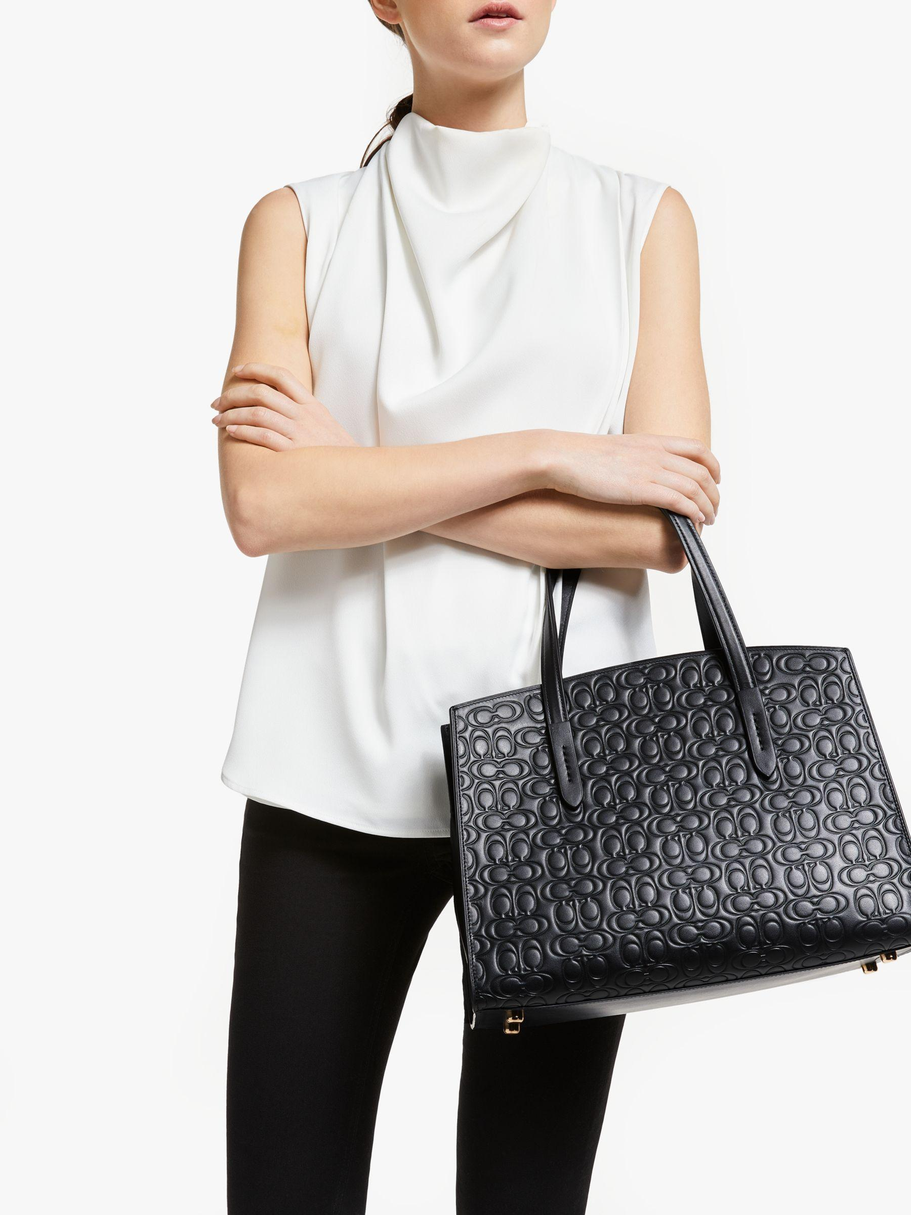 c017a0d5c889e0 COACH Charlie Leather Carryall Tote Bag in Black - Lyst