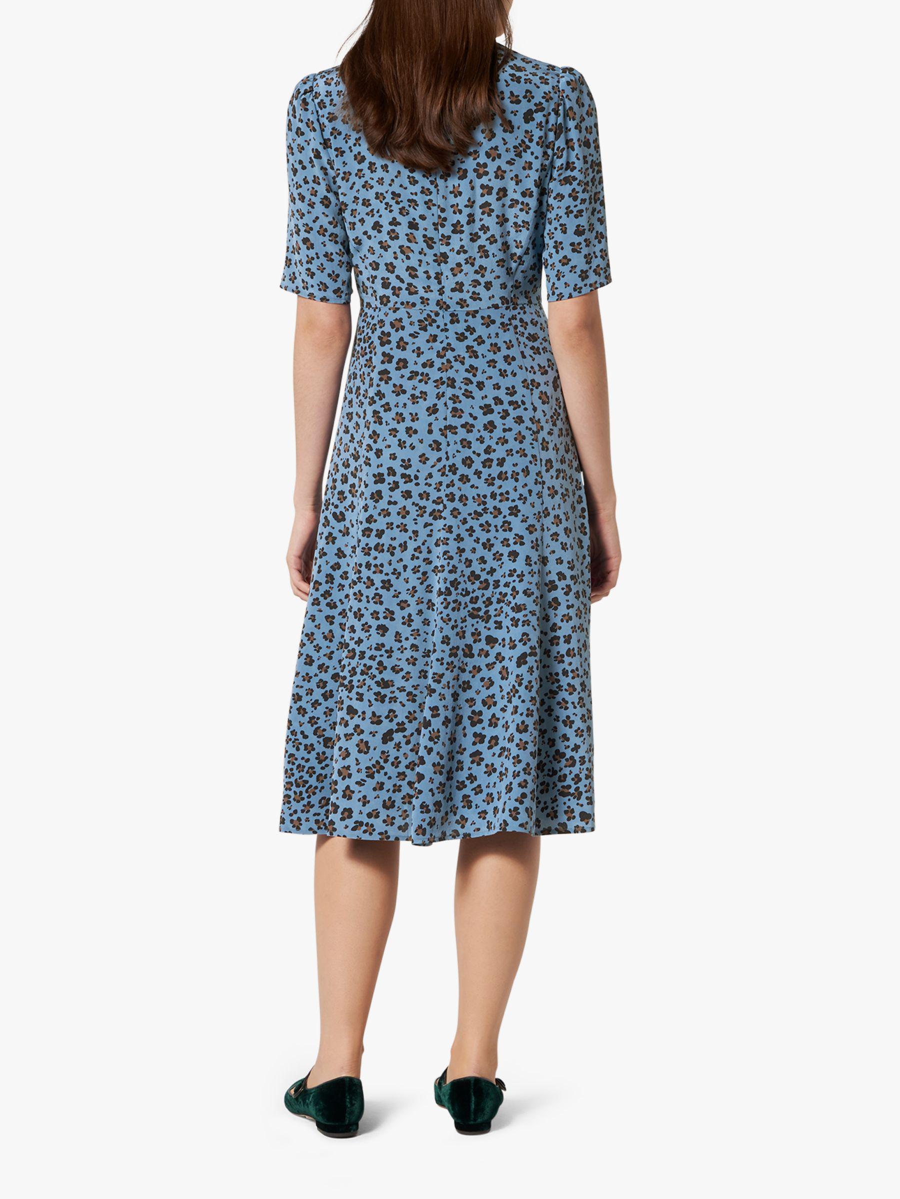 93e542226253b L.K.Bennett Montana Silk Dress in Blue - Lyst