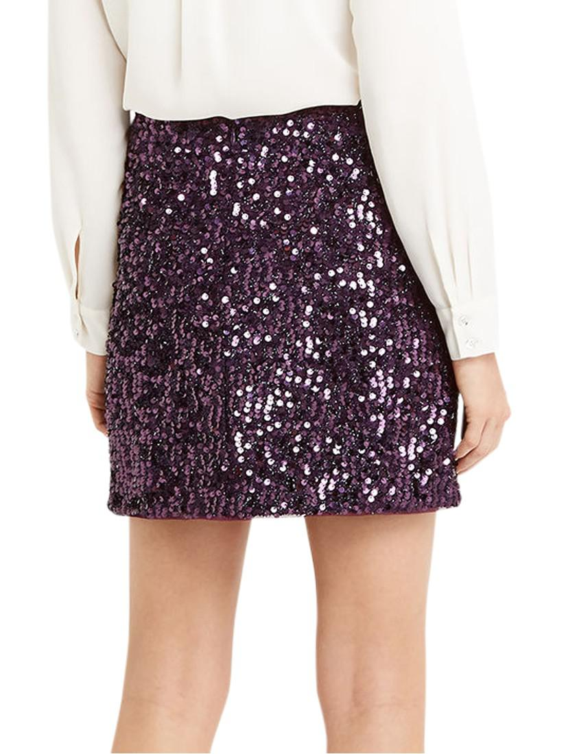 fe8f4a4c3 Oasis Sequin Tinsel Mini Skirt in Purple - Lyst