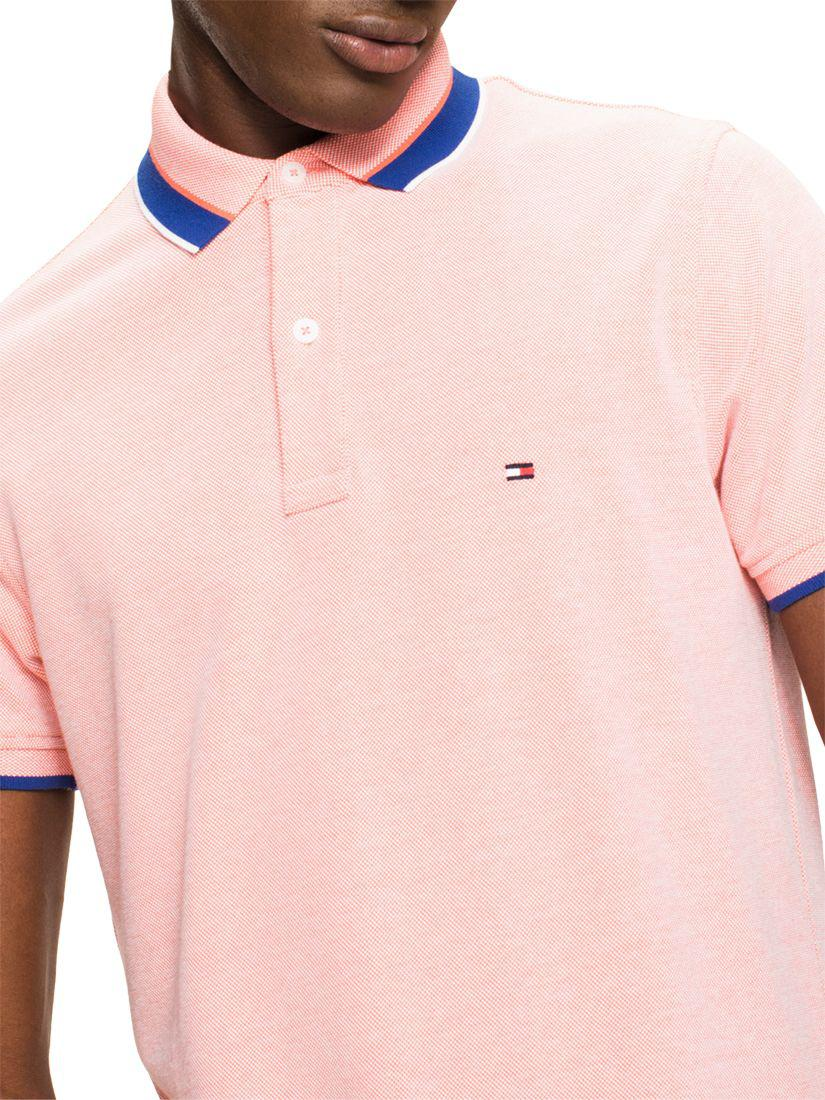 d8eae410 John Lewis Tommy Hilfiger Oxford Tipped Slim Polo Shirt for Men - Lyst