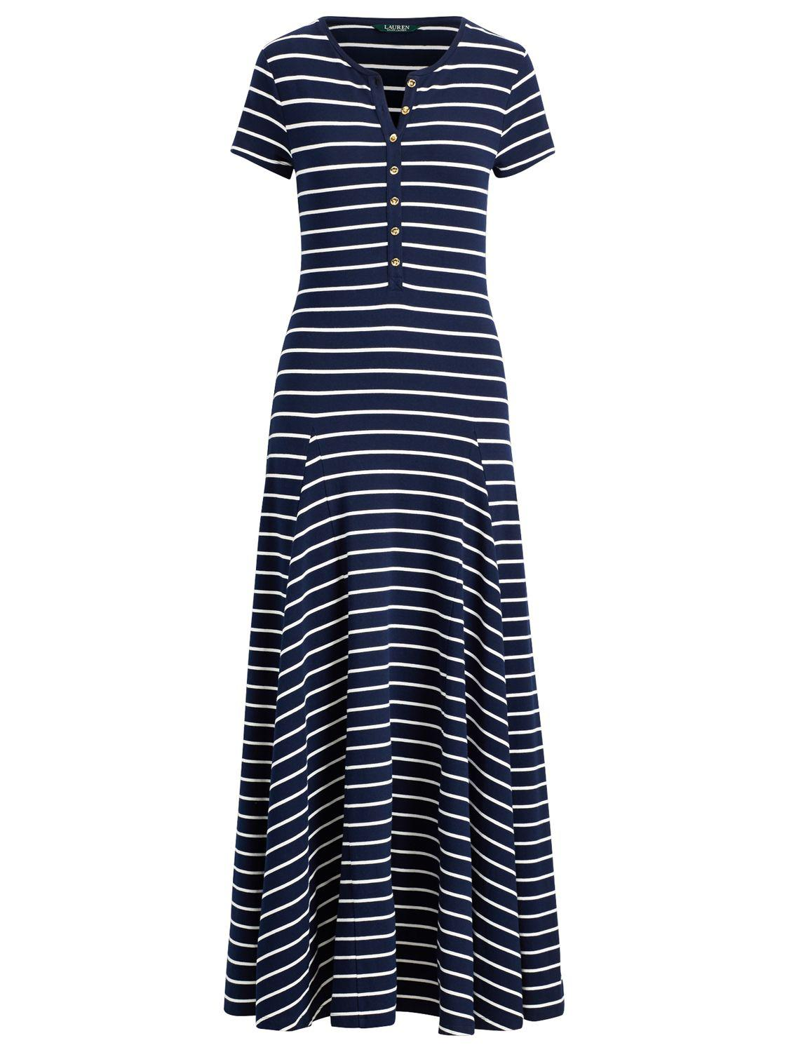 Ralph Lauren Blue Dress Casual Wolford In Striped Lyst nOk8P0wX