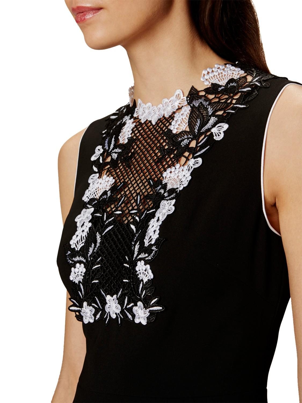 Lyst karen millen embroidered lace dress in black