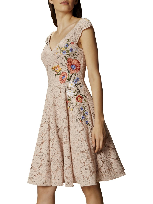 Karen millen lace embroidered prom dress lyst