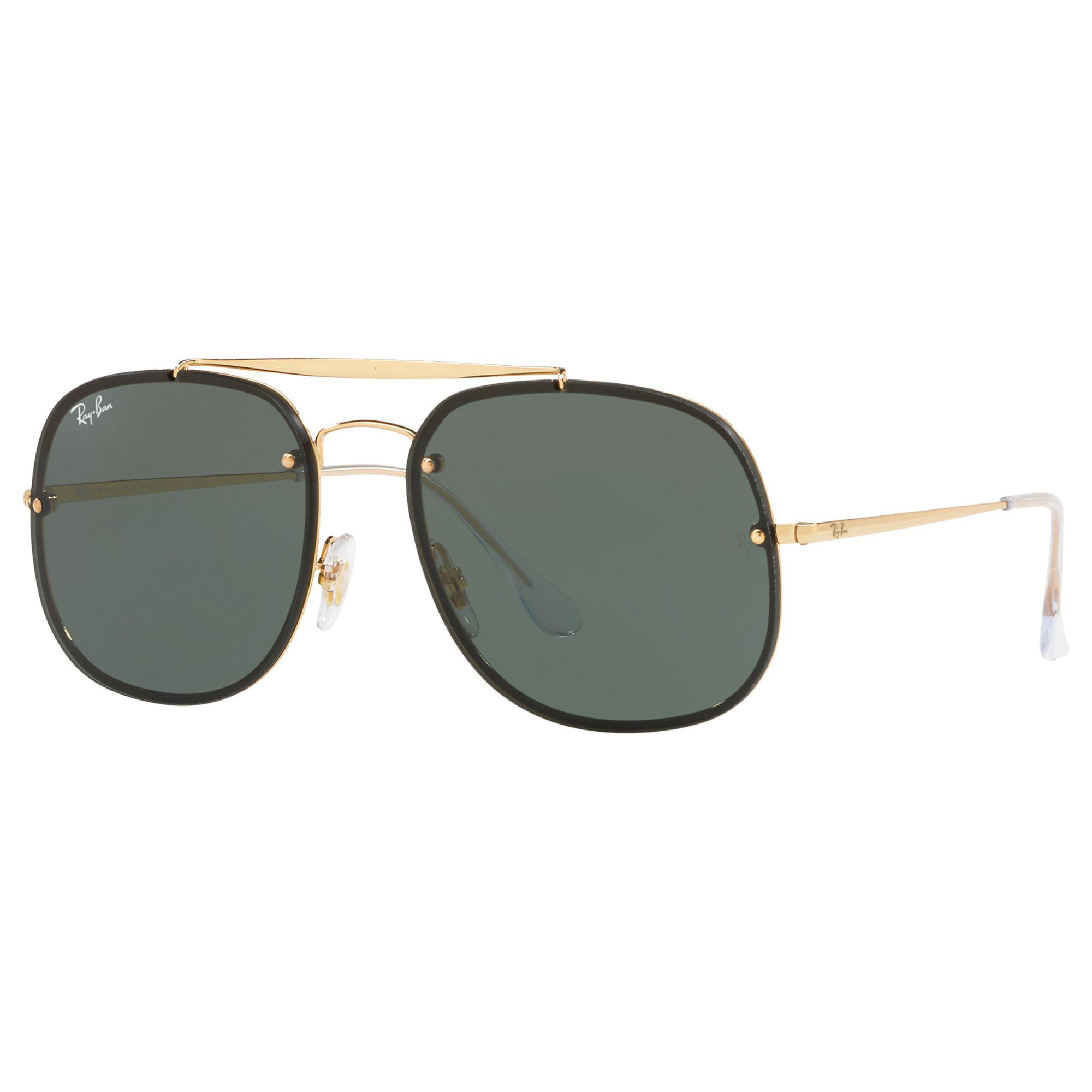 7be9f84509 Ray-Ban Rb3583 Unisex Square Polarised Sunglasses in Green for Men ...