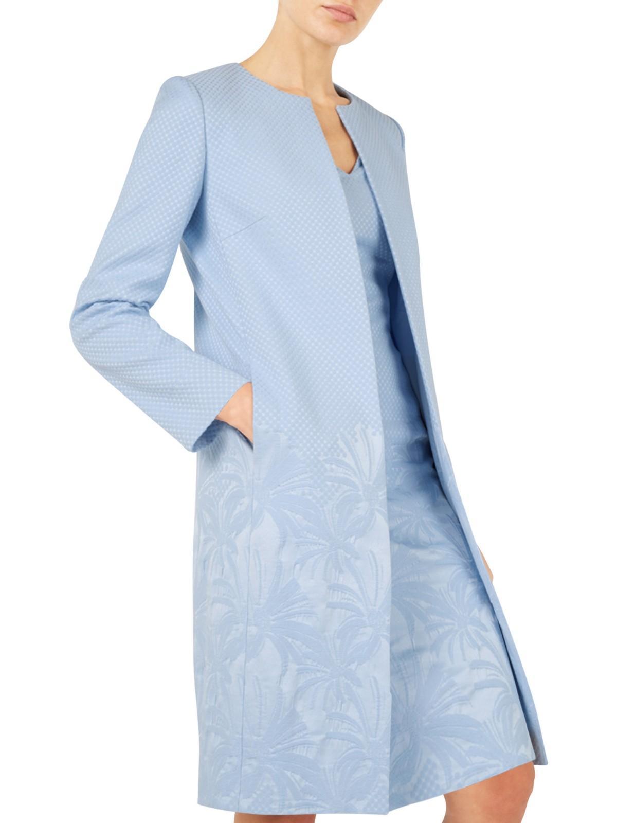 lyst jacques vert gradual textured jacket in blue. Black Bedroom Furniture Sets. Home Design Ideas