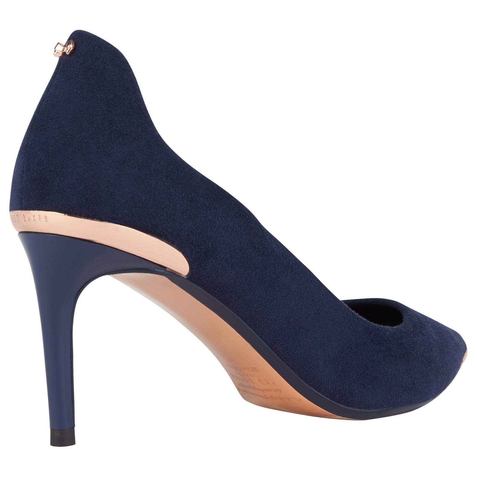 2674f367e56a44 Lyst - Ted Baker Vyixin Expressive Pansy Court Shoes in Blue