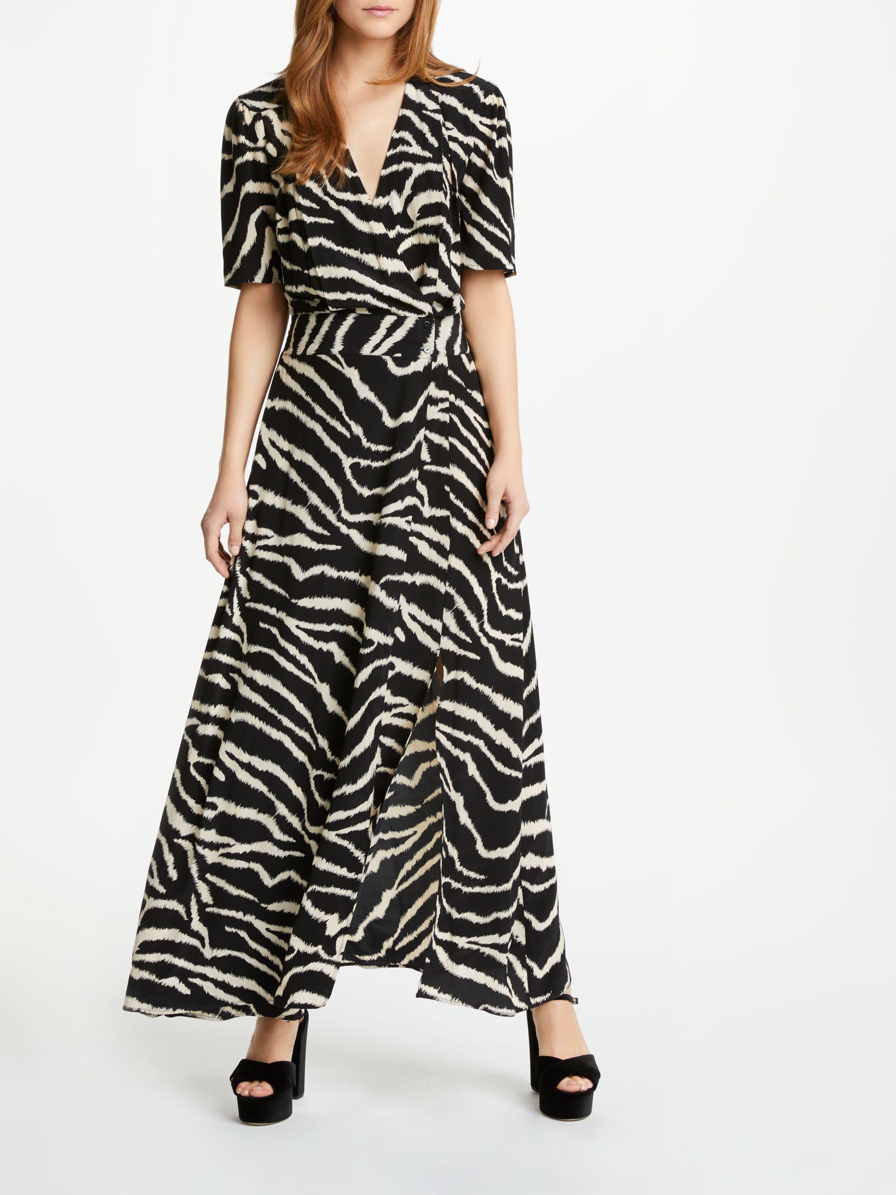 Somerset by Alice Temperley Zebra Print Wrap Maxi Dress in Black - Lyst fb8e8955d