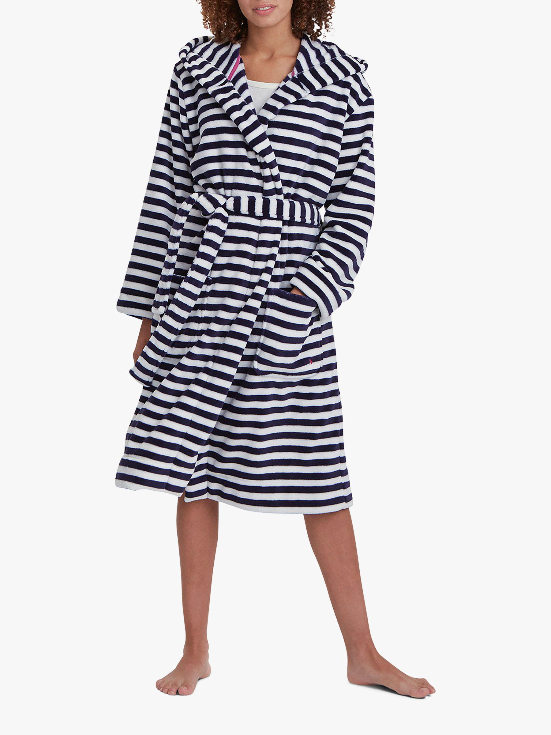 3de95c604c Joules Rita Stripe Fleece Dressing Gown in Blue - Lyst