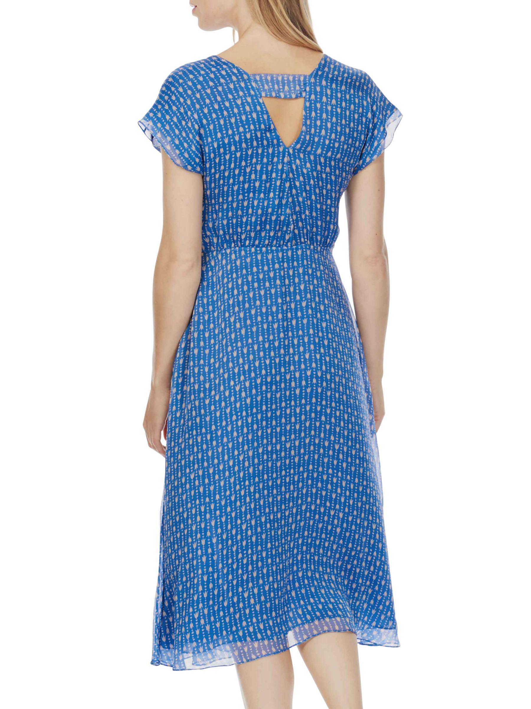 0d0eebaaa7 Brora Tulip Print Silk Chiffon Dress in Blue - Lyst