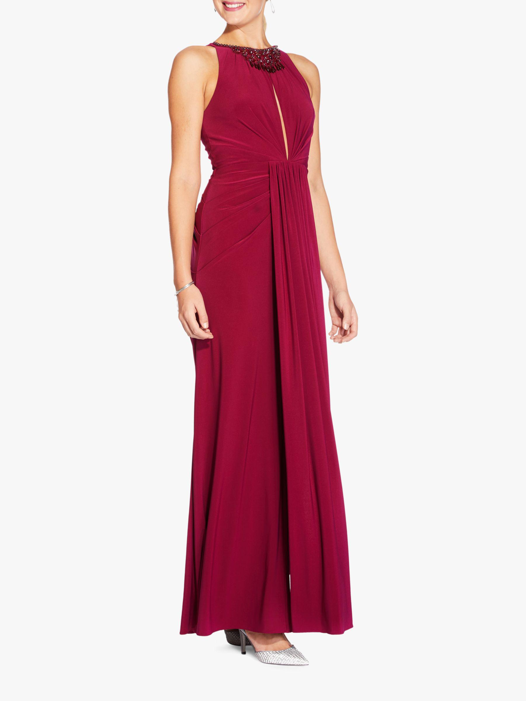 55f4065a0d5aa Adrianna Papell Matte Jersey Maxi Dress in Red - Lyst