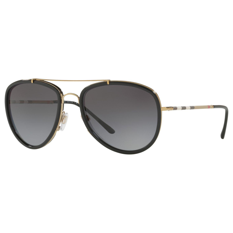 26bdb46fce2 Burberry Be3090 Polarised Aviator Sunglasses in Gray for Men - Lyst
