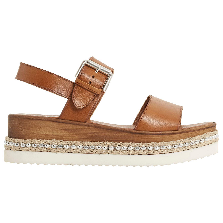 e36d7d3a48f Dune Kool Stud Flatform Sandals in Brown - Lyst