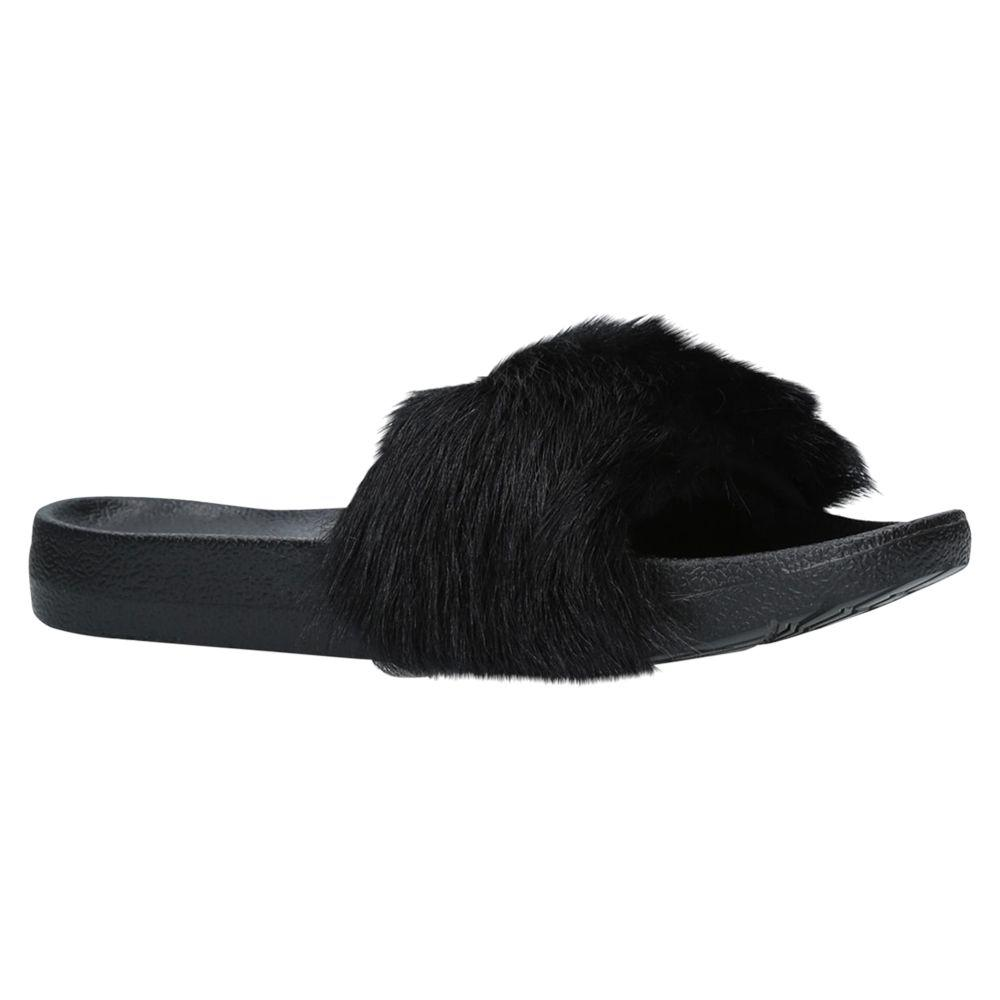 6e9ecc59c2a6 UGG Royale Sheepskin Slider Sandals in Black - Lyst