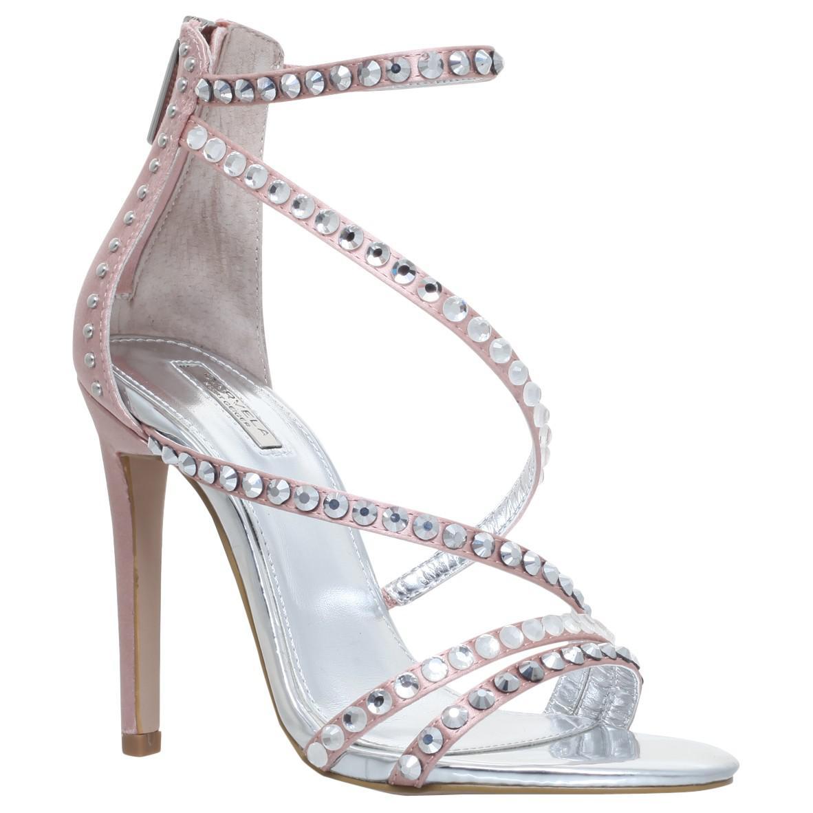 e98f7c6c394 Kurt Geiger Carvela Grass Embellished Stiletto Heeled Sandals - Lyst