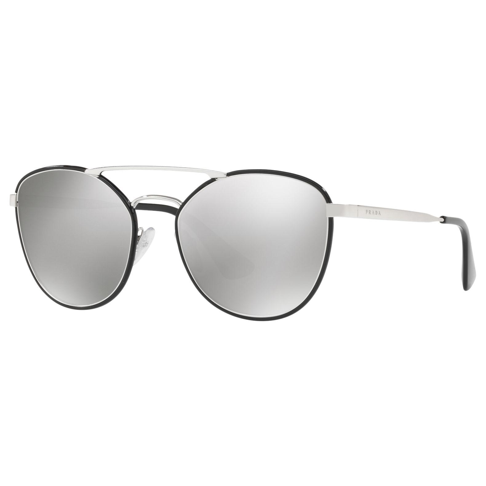 a258e10d4c Prada Pr 63ts Women s Oval Sunglasses in Metallic - Lyst