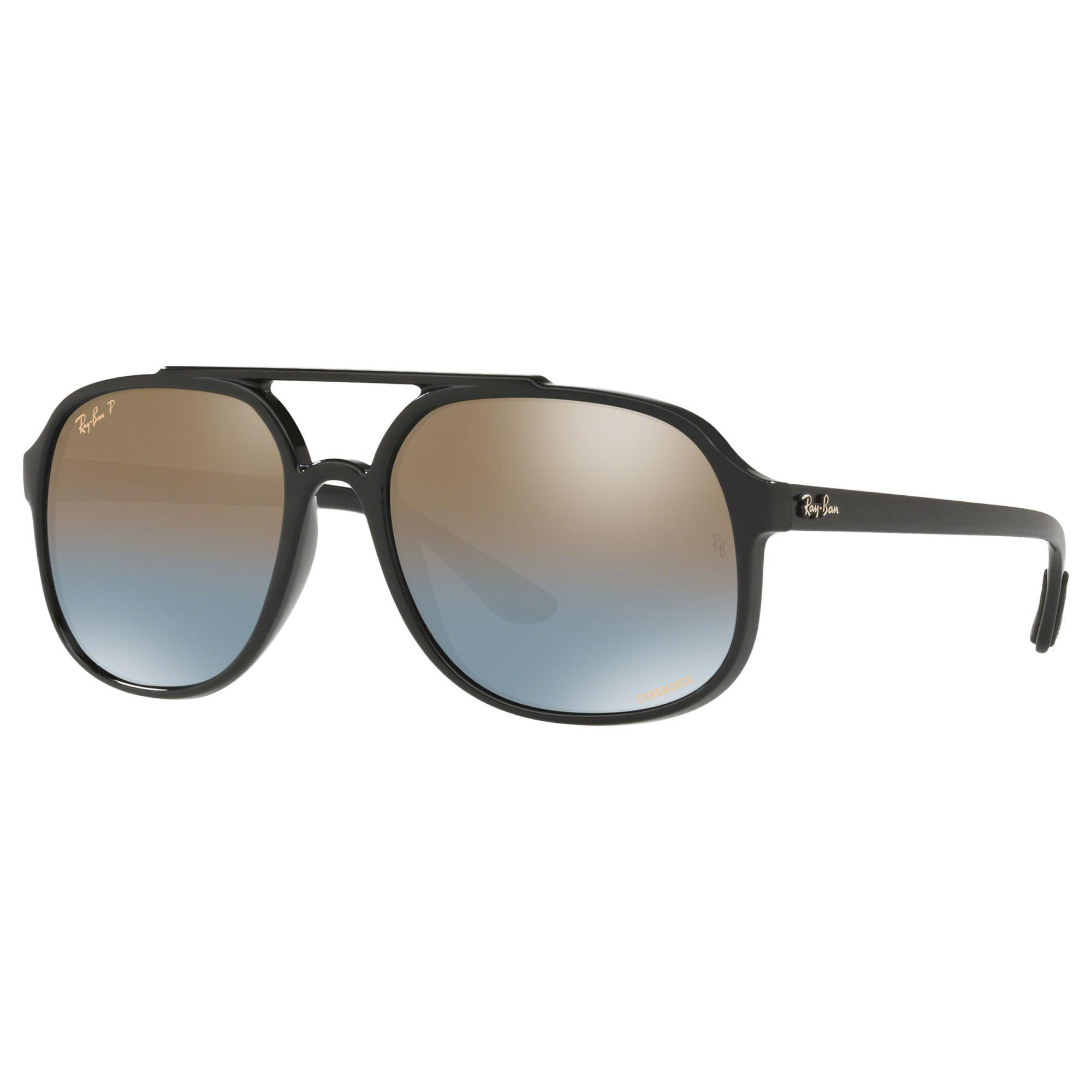 057d153b83 Ray-Ban. Black Rb4312 Men s Square Sunglasses. £146 From John Lewis and  Partners