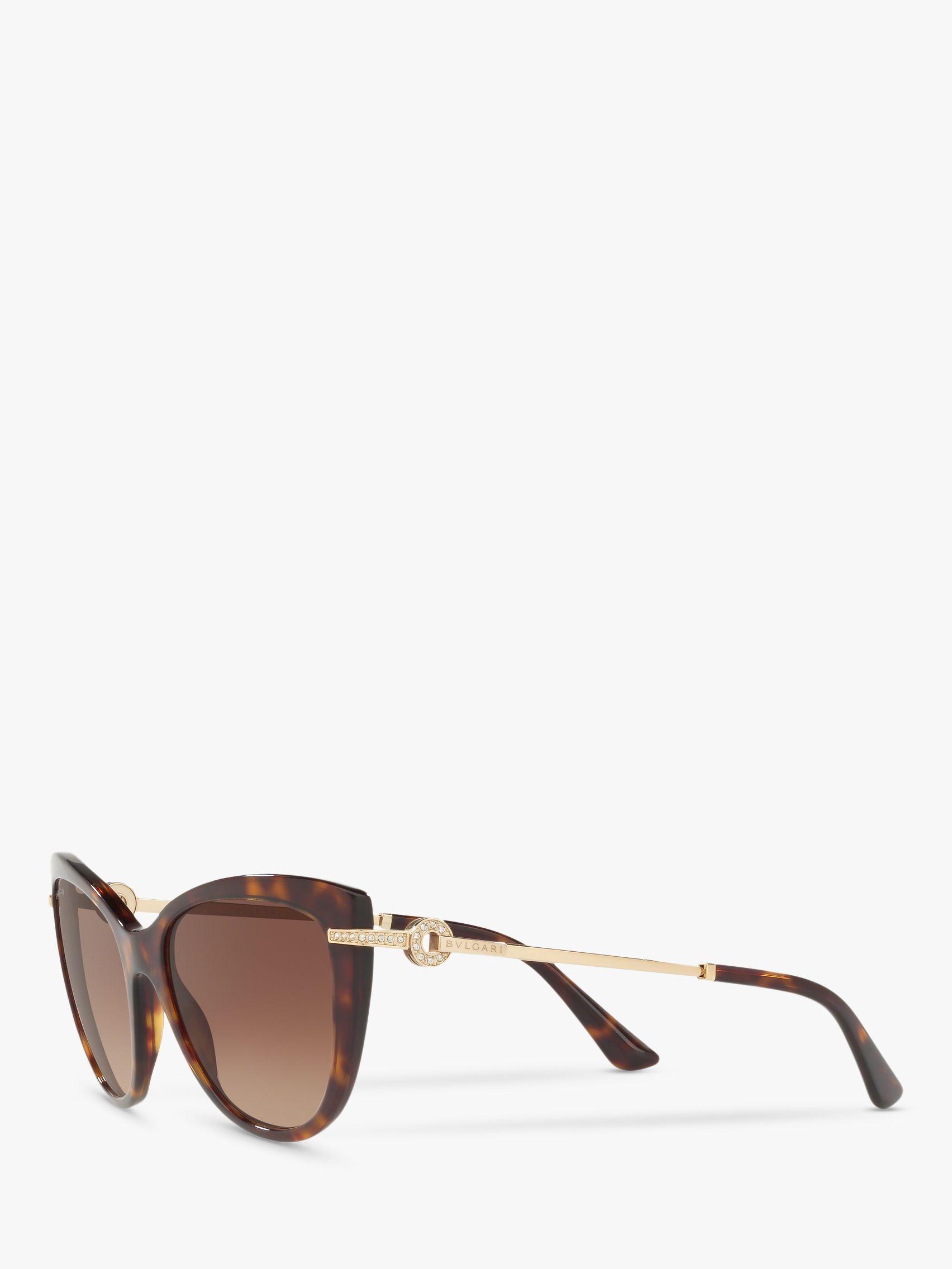 4f1a58dd43178 BVLGARI Bv8218b Women s Cat s Eye Sunglasses in Brown - Lyst