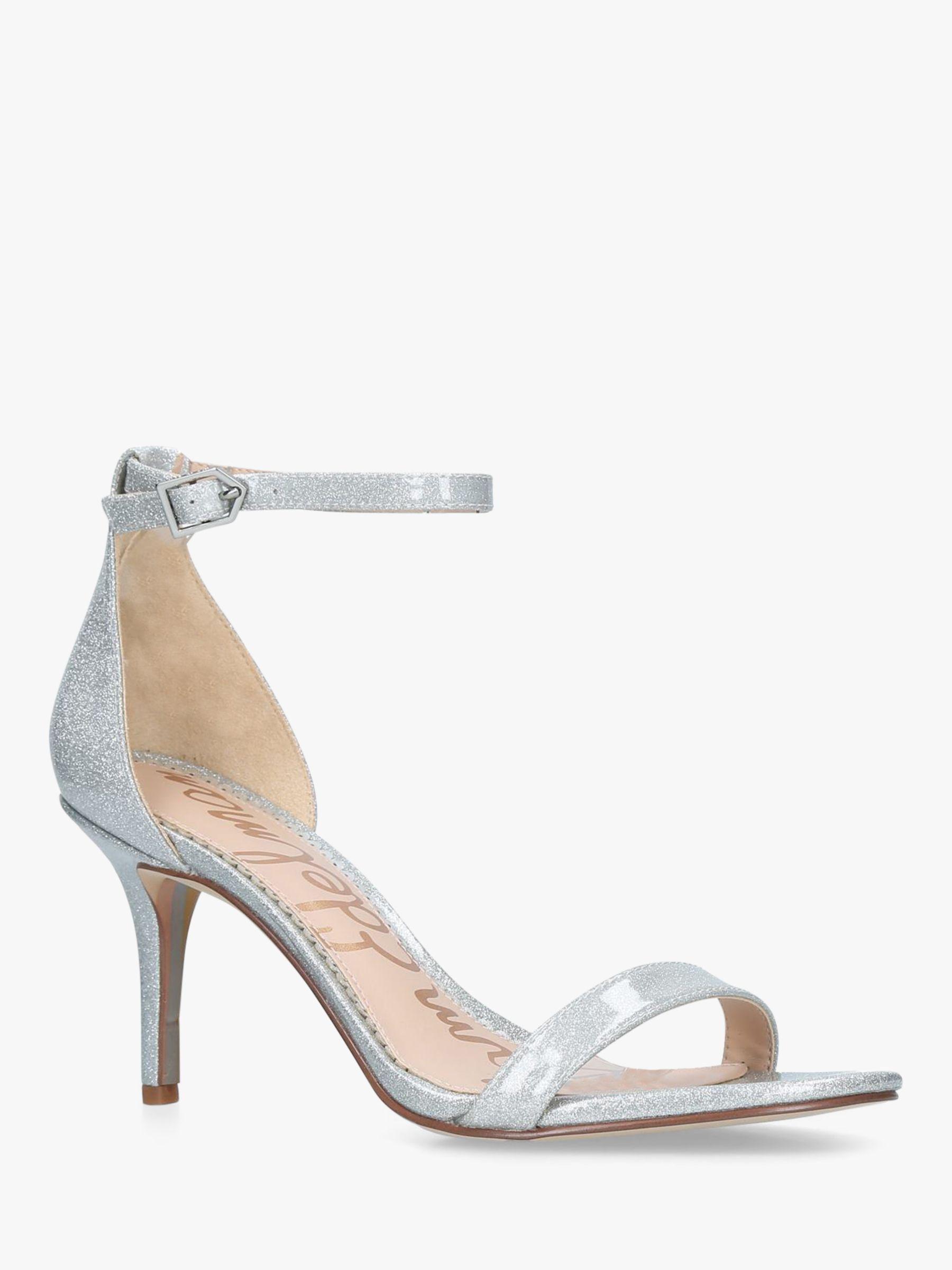 f3edcad98b7c Sam Edelman Patti Ankle Strap Heeled Sandals in Metallic - Lyst