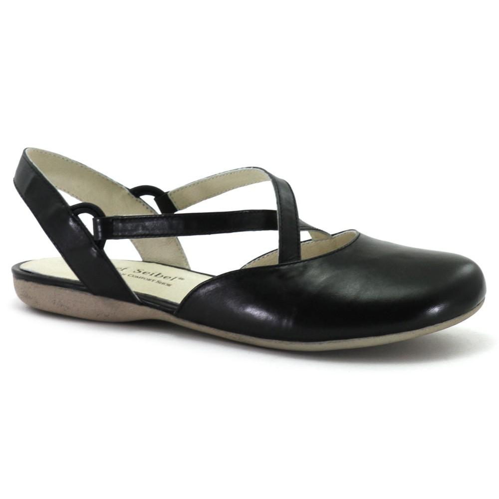 b868cc5d449e6 Josef Seibel Fiona 13 Cross Strap Pumps in Black - Lyst