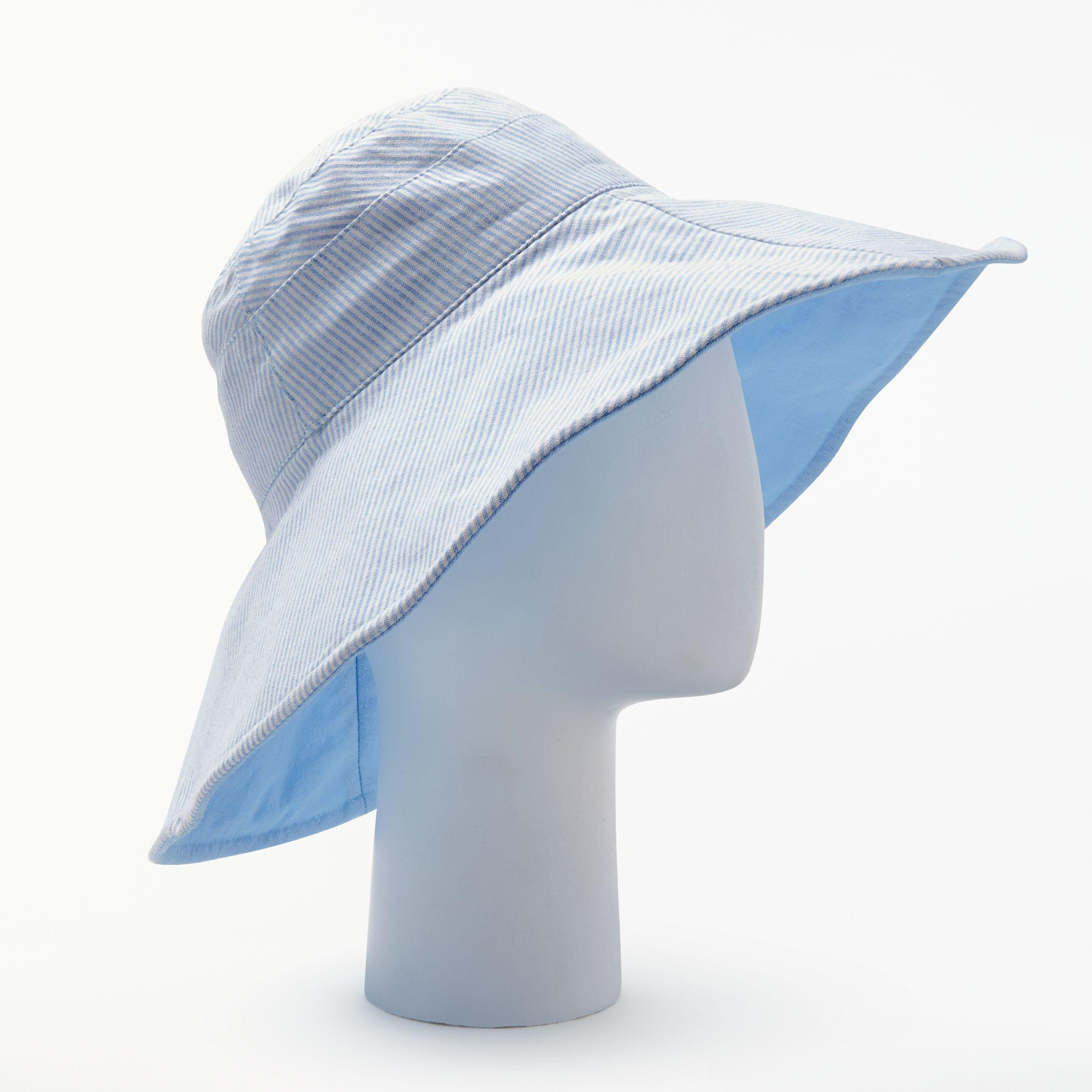 649316e0dfb59 John Lewis Reversible Striped Wide Brim Hat in Blue - Lyst